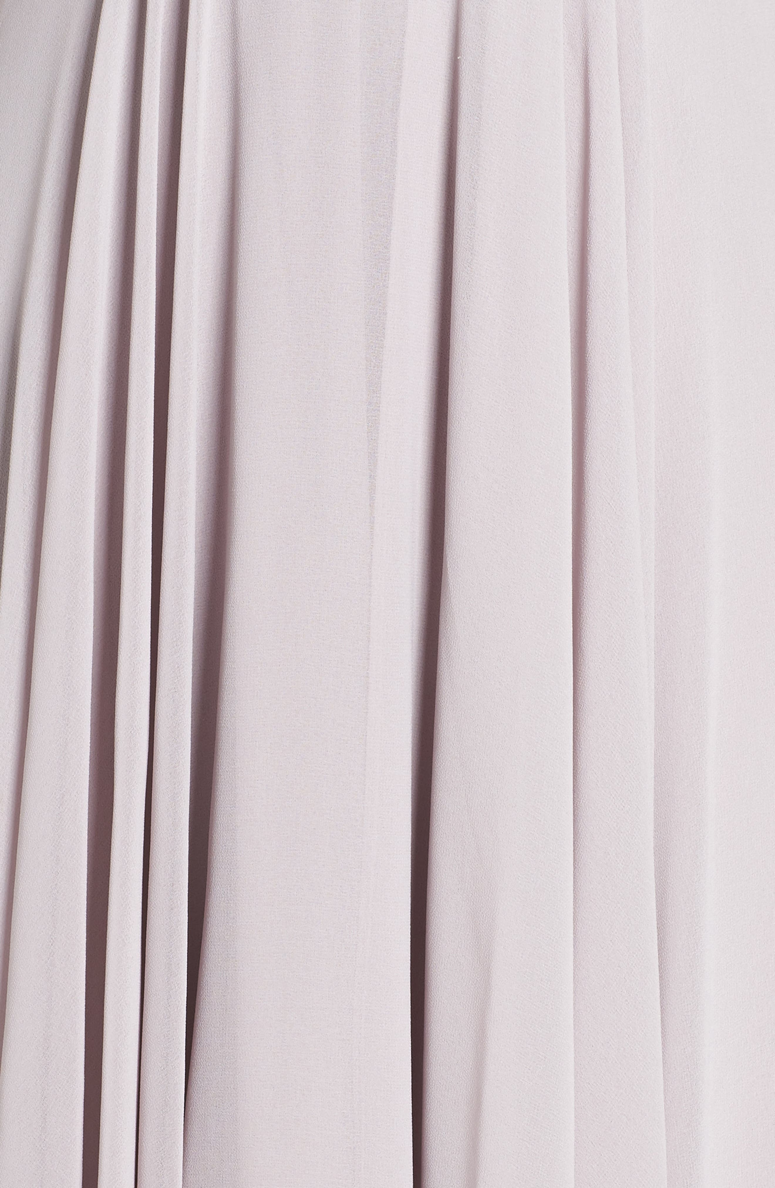LULUS,                             Surplice Chiffon Gown,                             Alternate thumbnail 6, color,                             LIGHT GREY