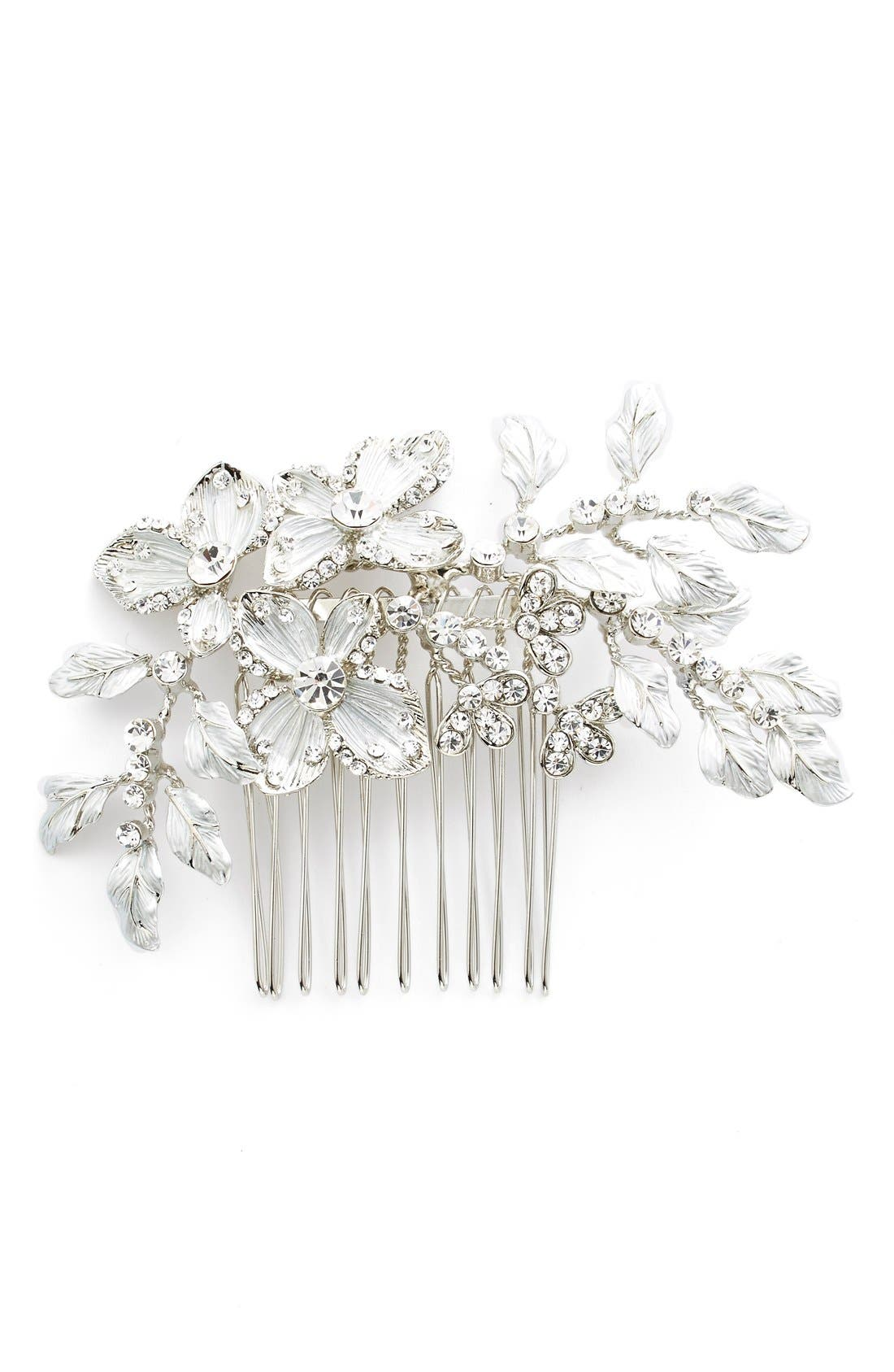 Crystal Floral Hair Comb,                         Main,                         color, 040