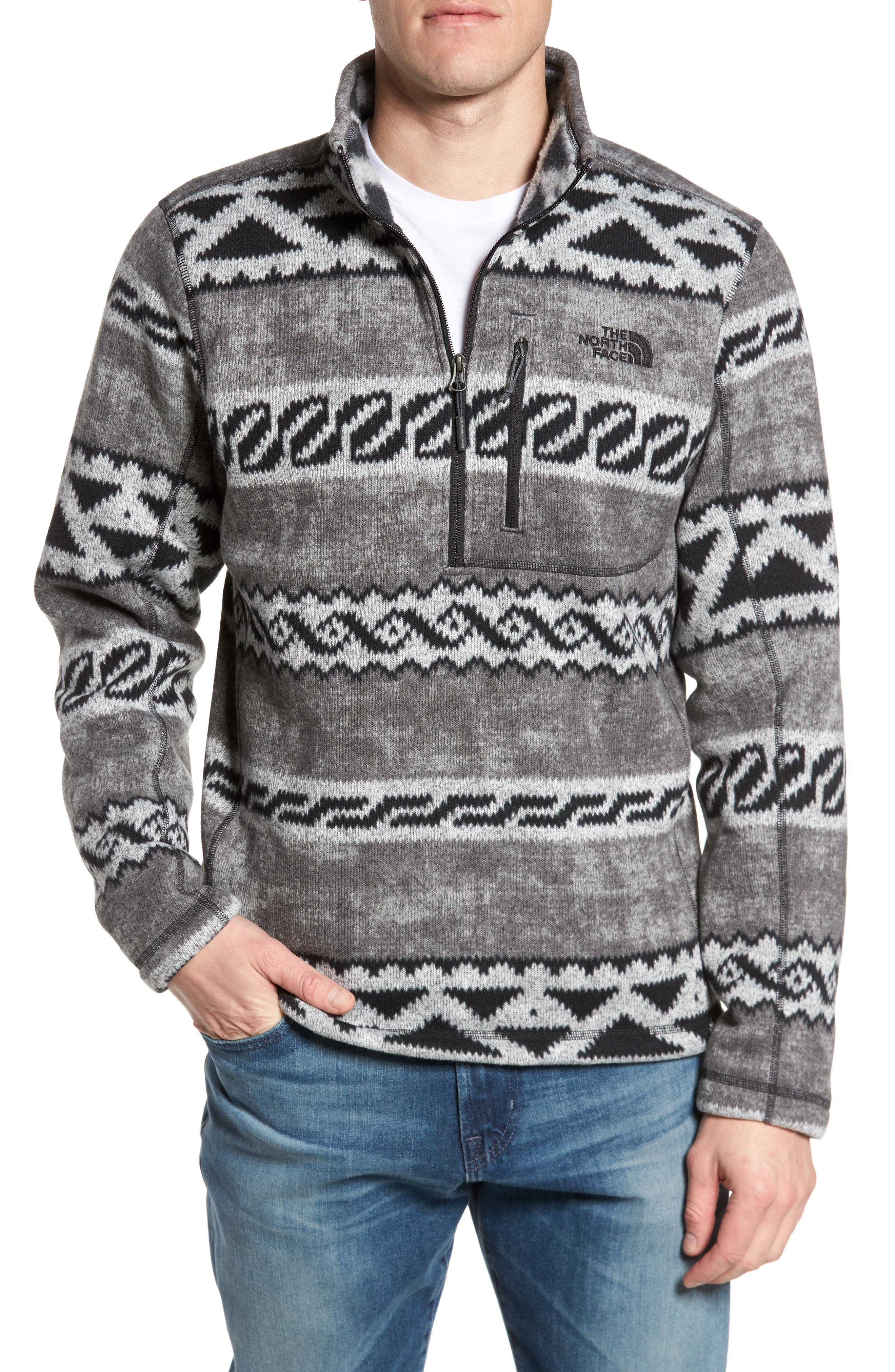THE NORTH FACE Gordon Lyons Plaid Pullover, Main, color, 022