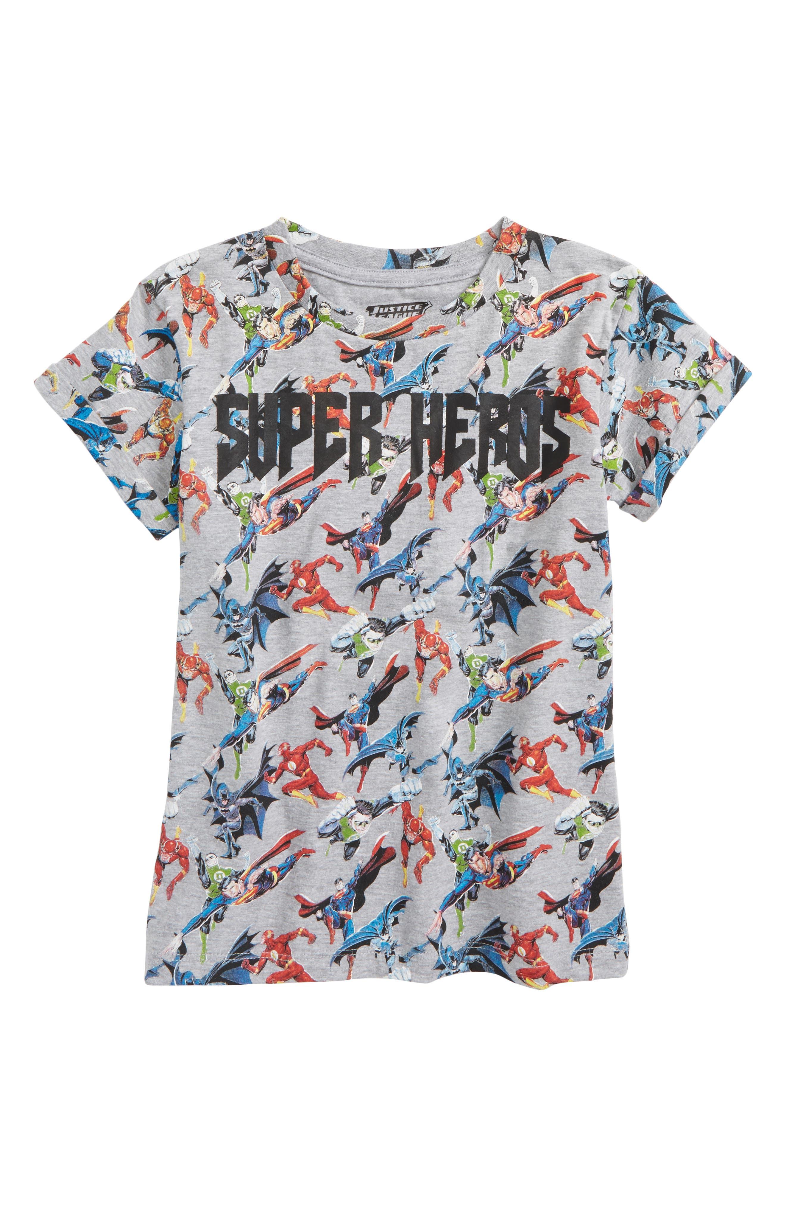 Super Heroes T-Shirt,                         Main,                         color, 020