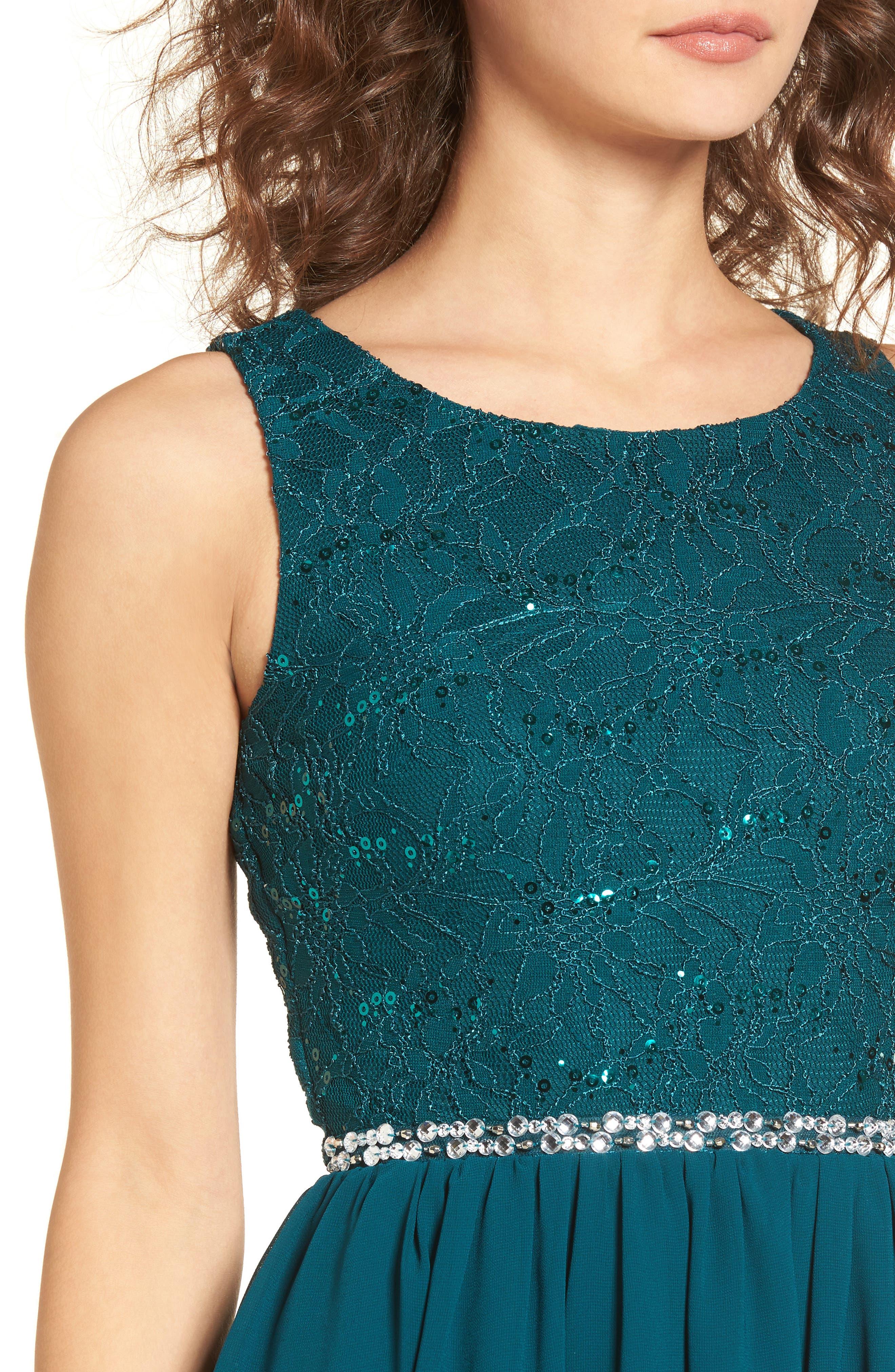 Jeweled Belt Dress,                             Alternate thumbnail 7, color,