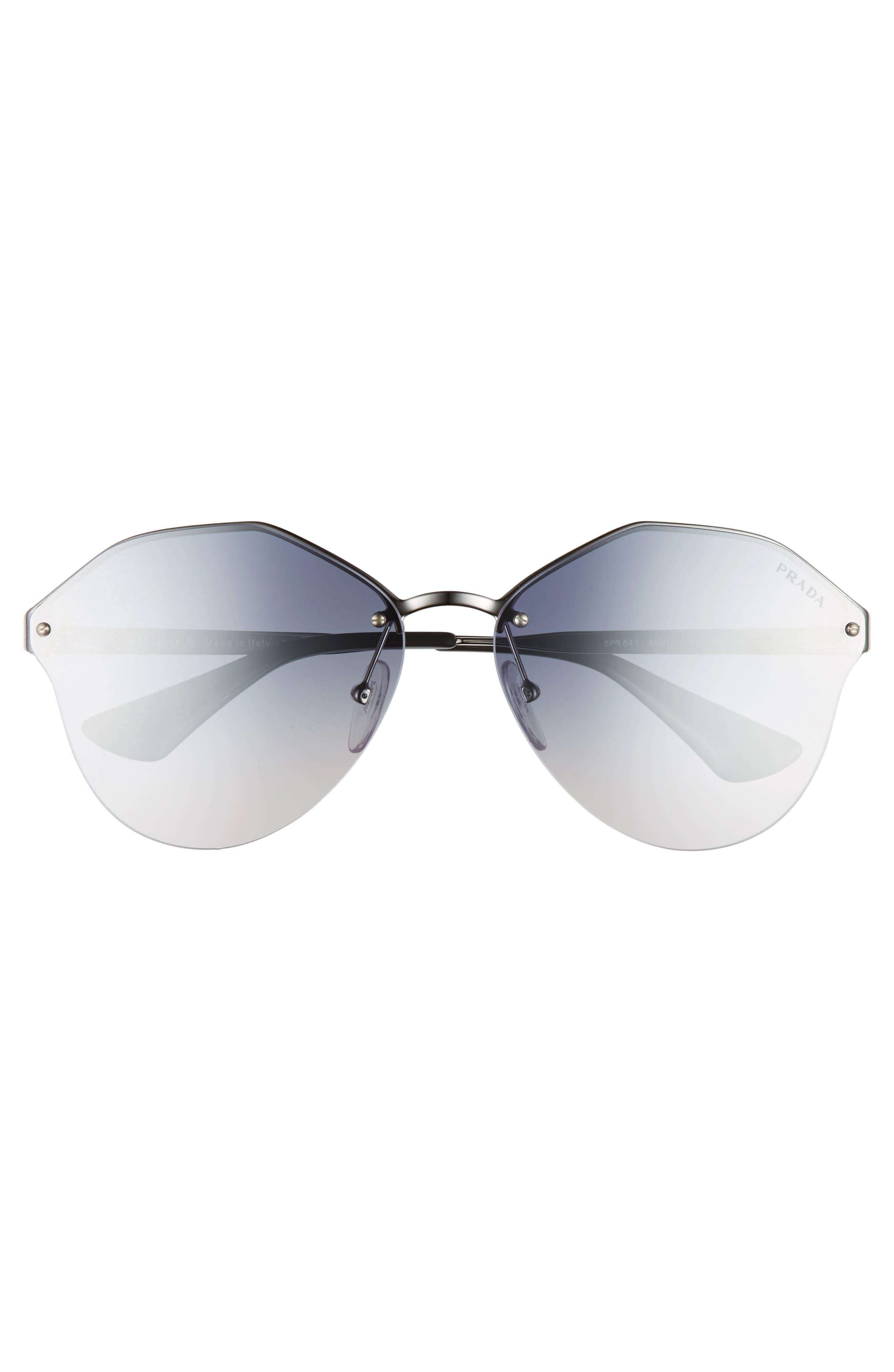66mm Gradient Rimless Sunglasses,                             Alternate thumbnail 3, color,                             040