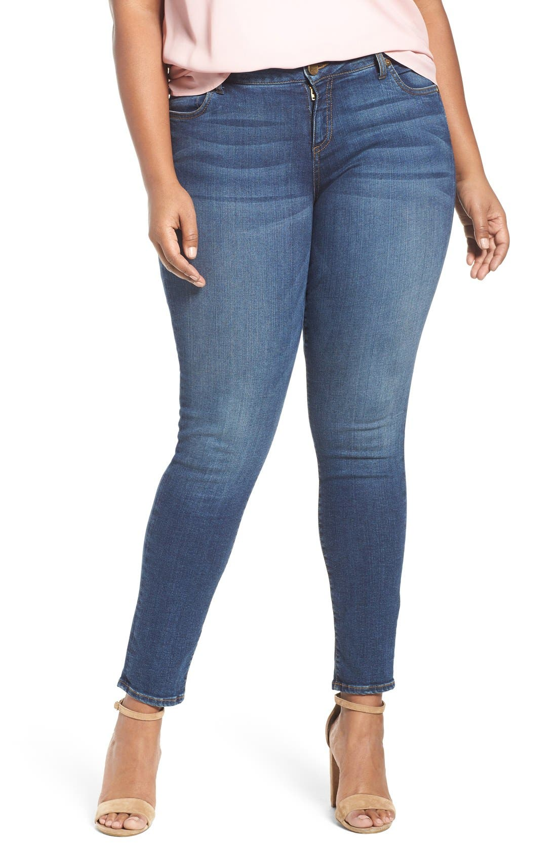Mia Toothpick Stretch Skinny Jeans,                             Main thumbnail 1, color,                             REPOSE