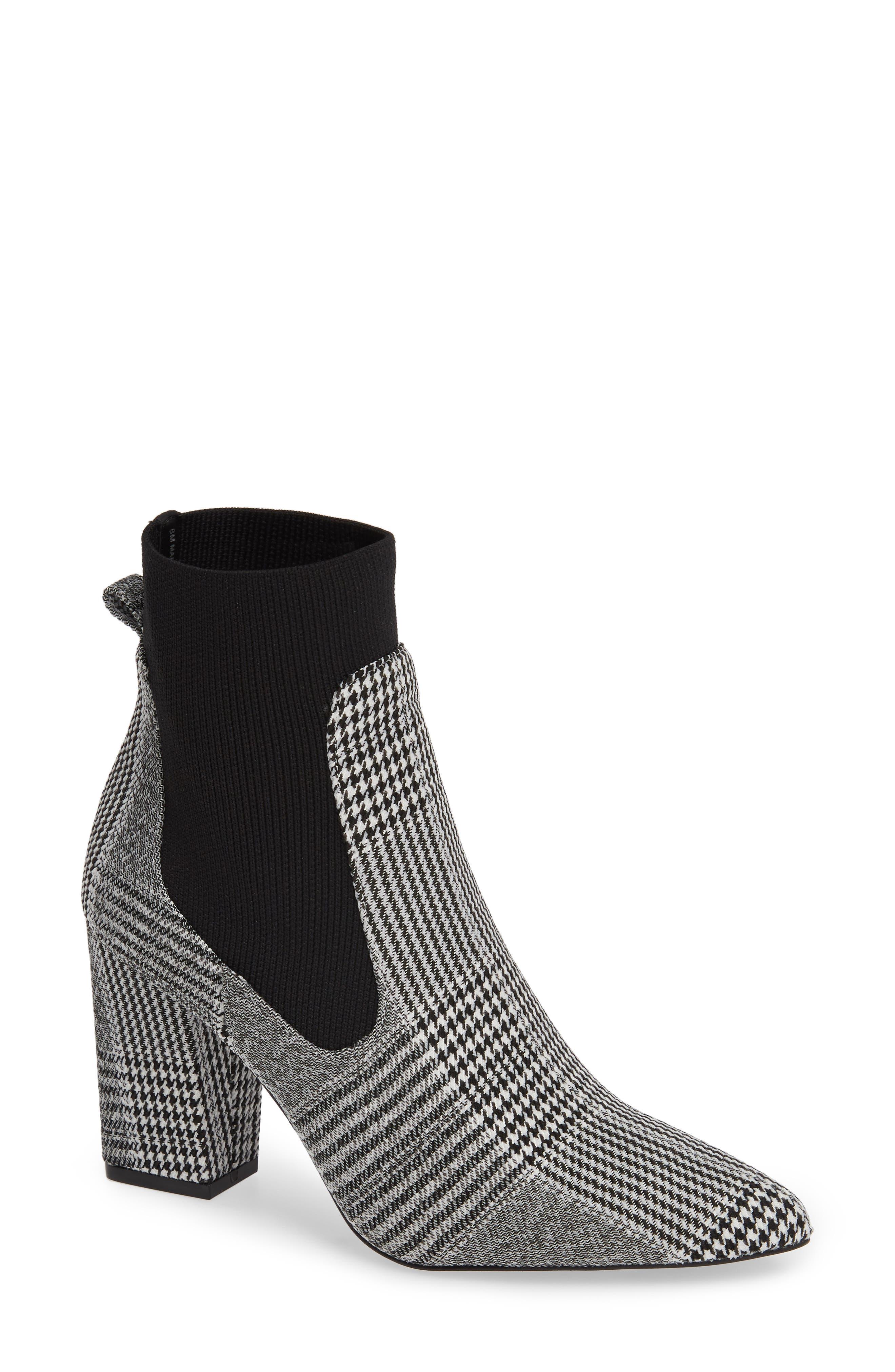 Richter Sock Bootie,                         Main,                         color, BLACK PLAID