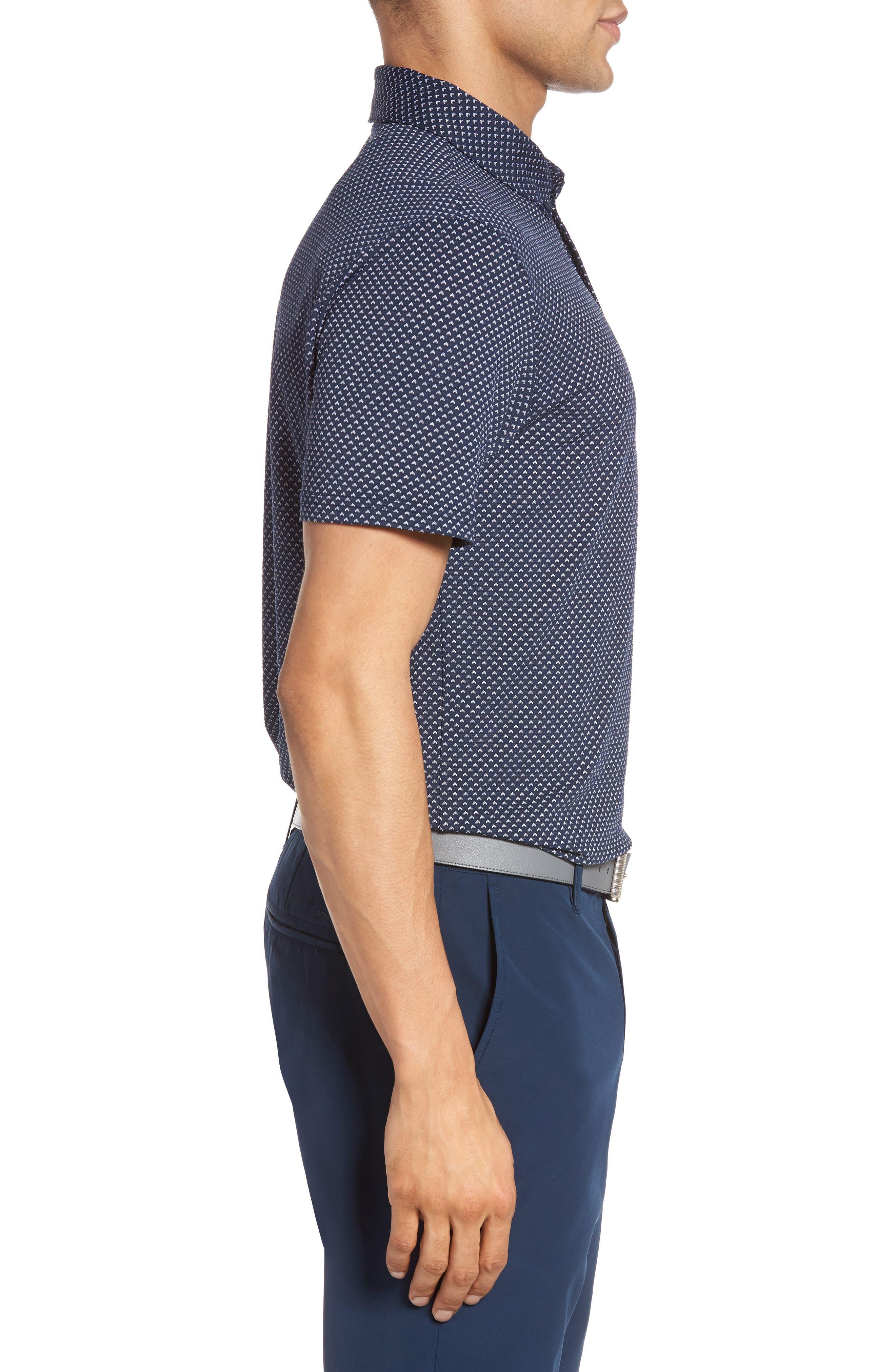 Flatiron Slim Fit Jacquard Jersey Polo,                             Alternate thumbnail 6, color,