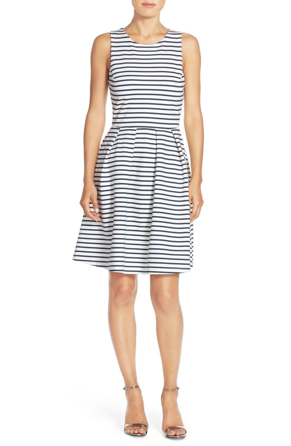 Ming Stripe Fit & Flare Dress,                             Main thumbnail 2, color,