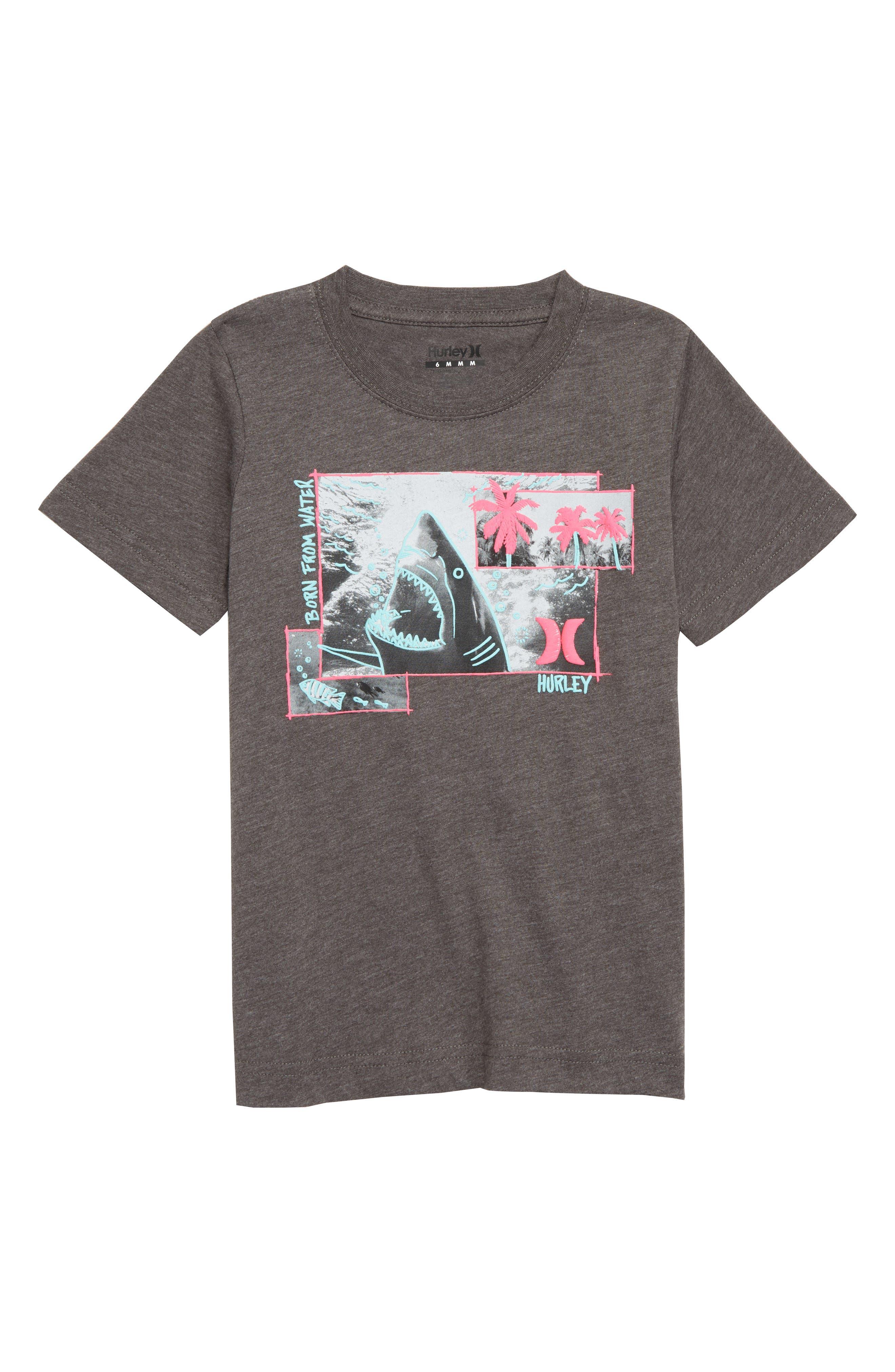 Sketchy Shark Graphic T-Shirt,                             Main thumbnail 1, color,                             CHARCOAL HEATHER