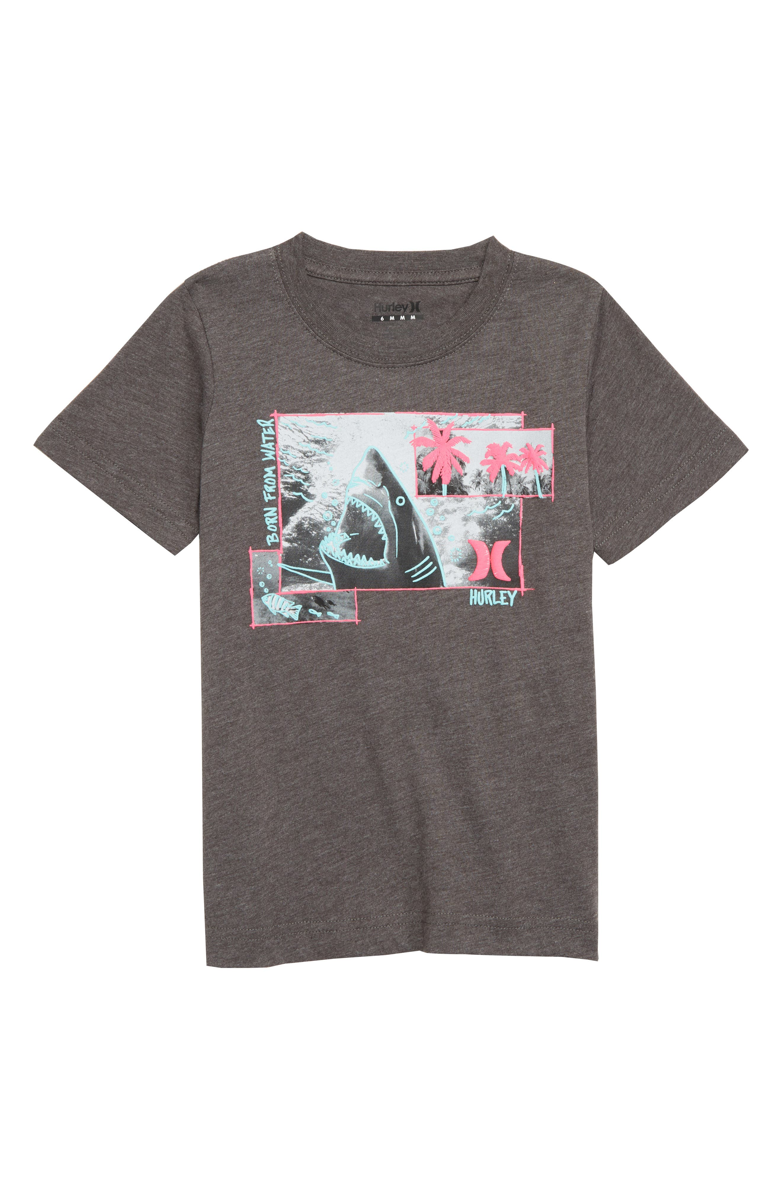 Sketchy Shark Graphic T-Shirt,                         Main,                         color, CHARCOAL HEATHER