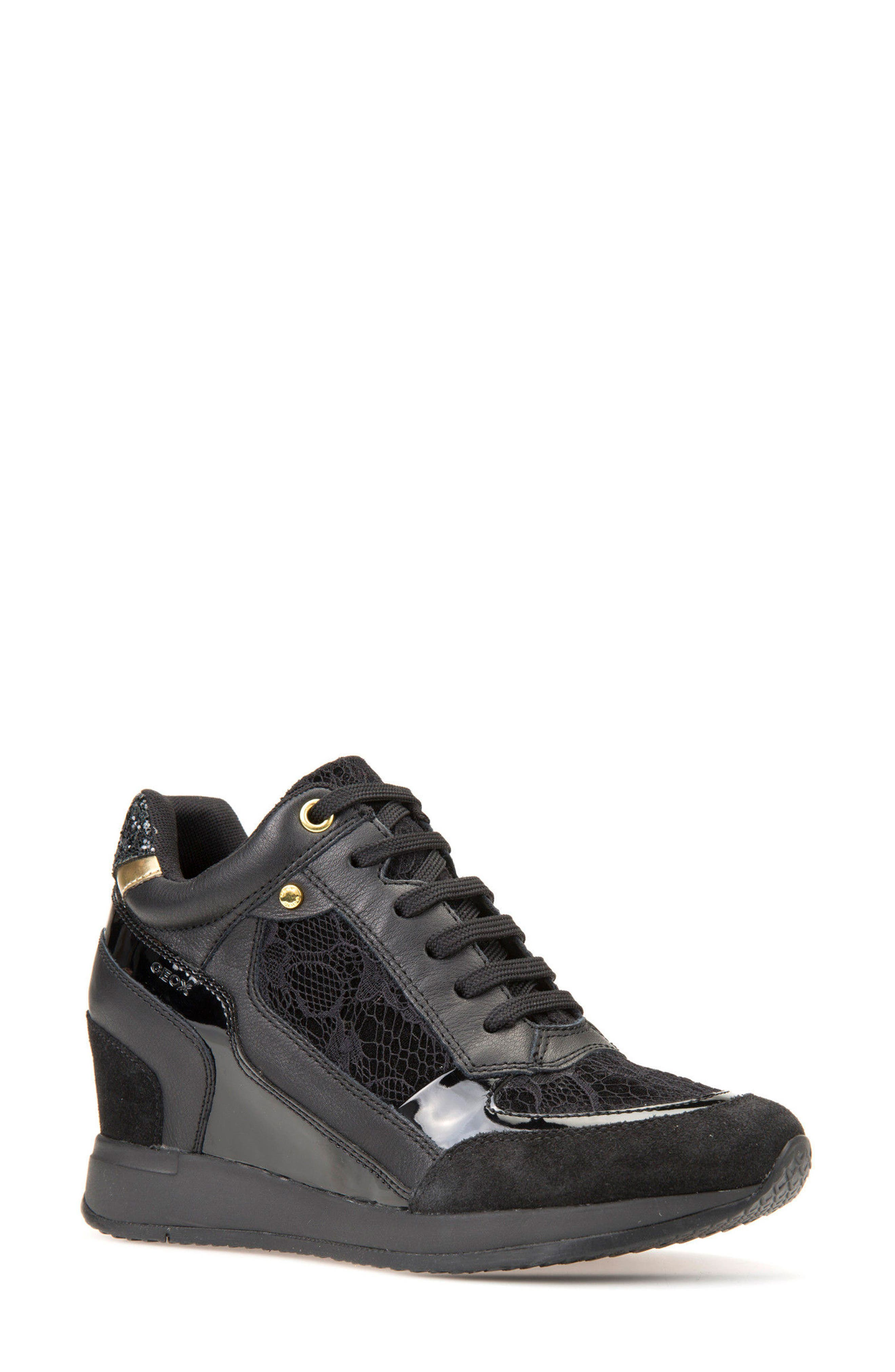 Nydame Wedge Sneaker,                             Main thumbnail 1, color,                             001