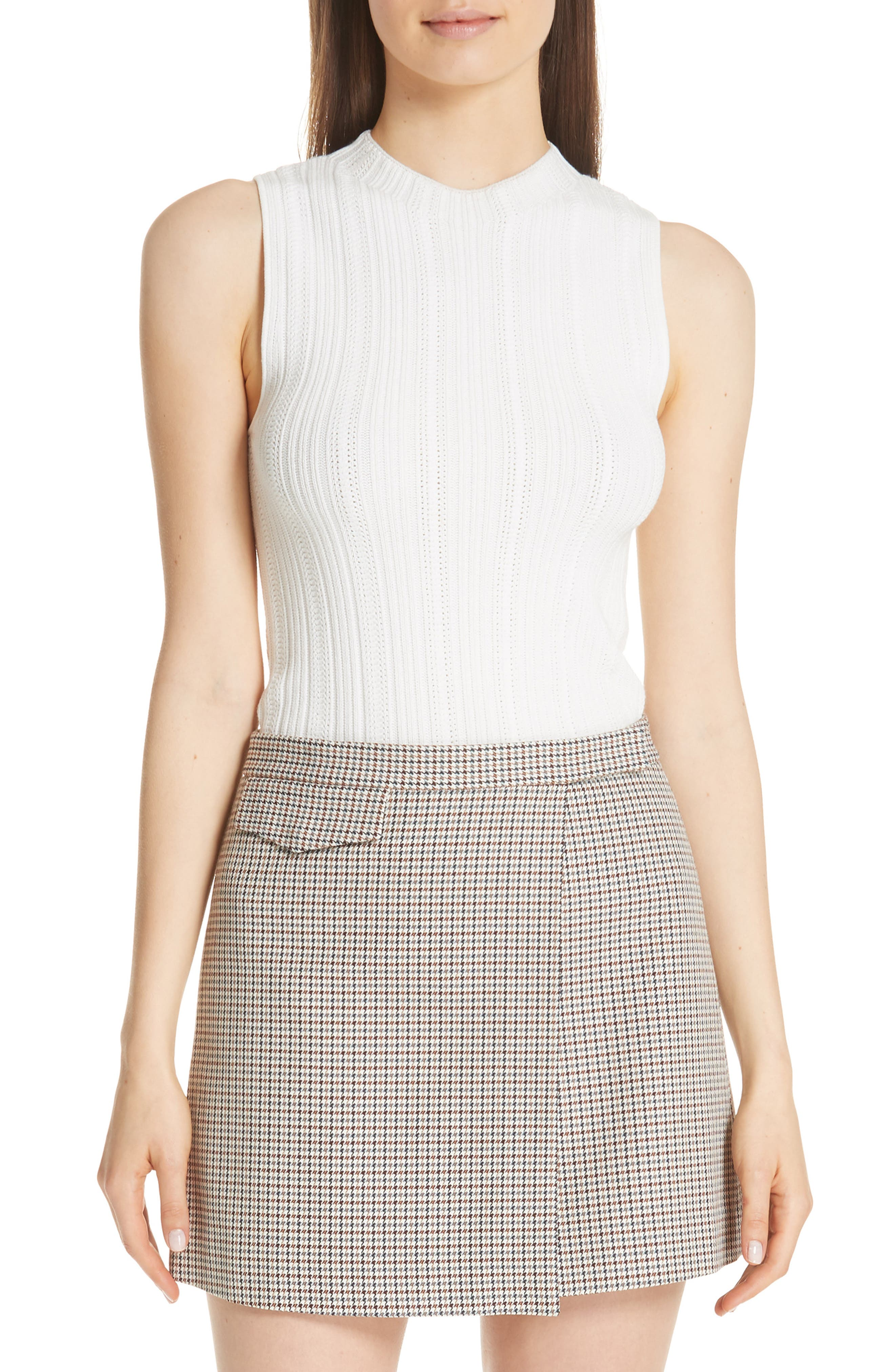 Pointelle Knit Shell by Theory