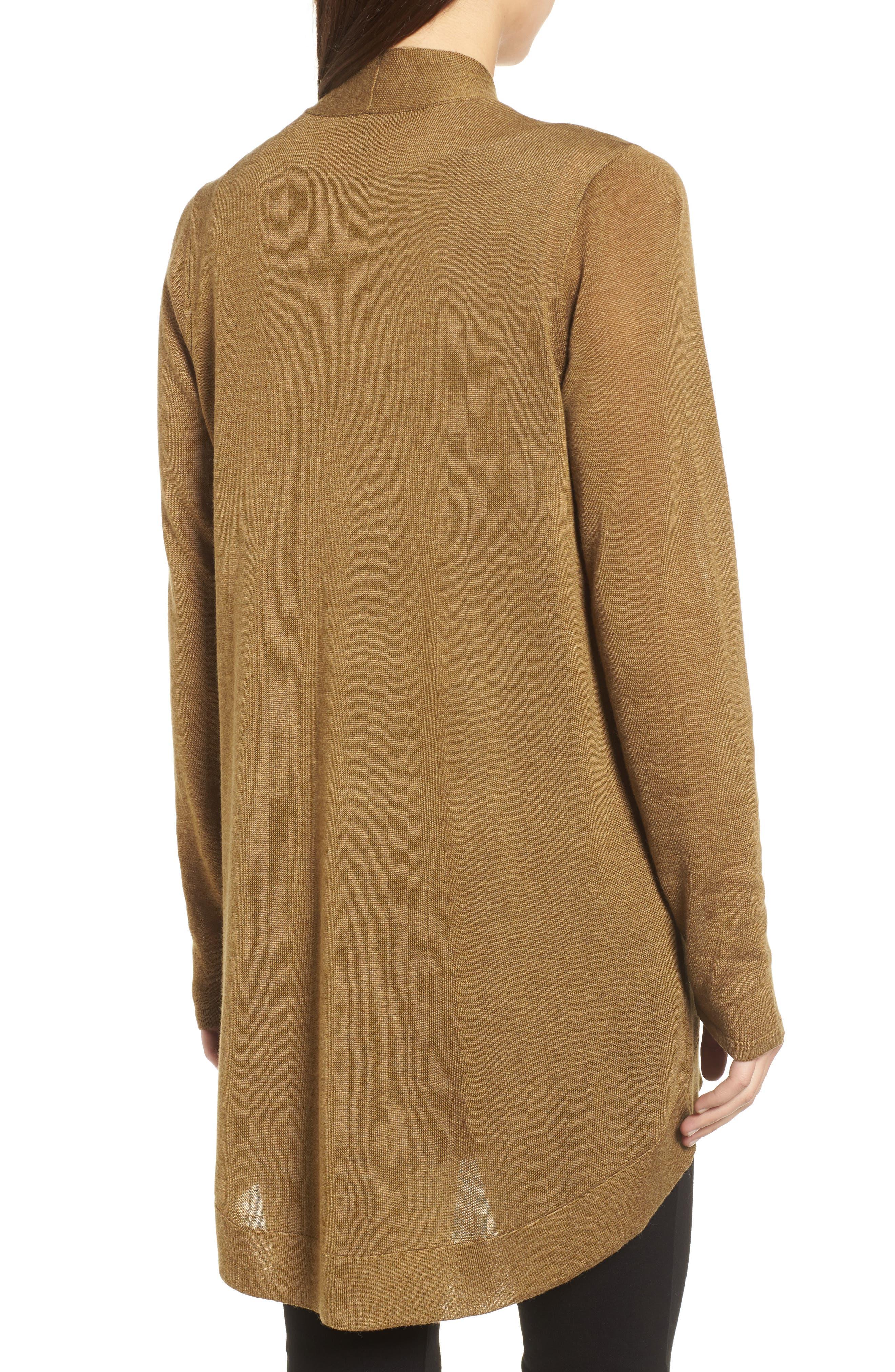 Tencel<sup>®</sup> Lyocell & Merino Wool Shaped Cardigan,                             Alternate thumbnail 10, color,