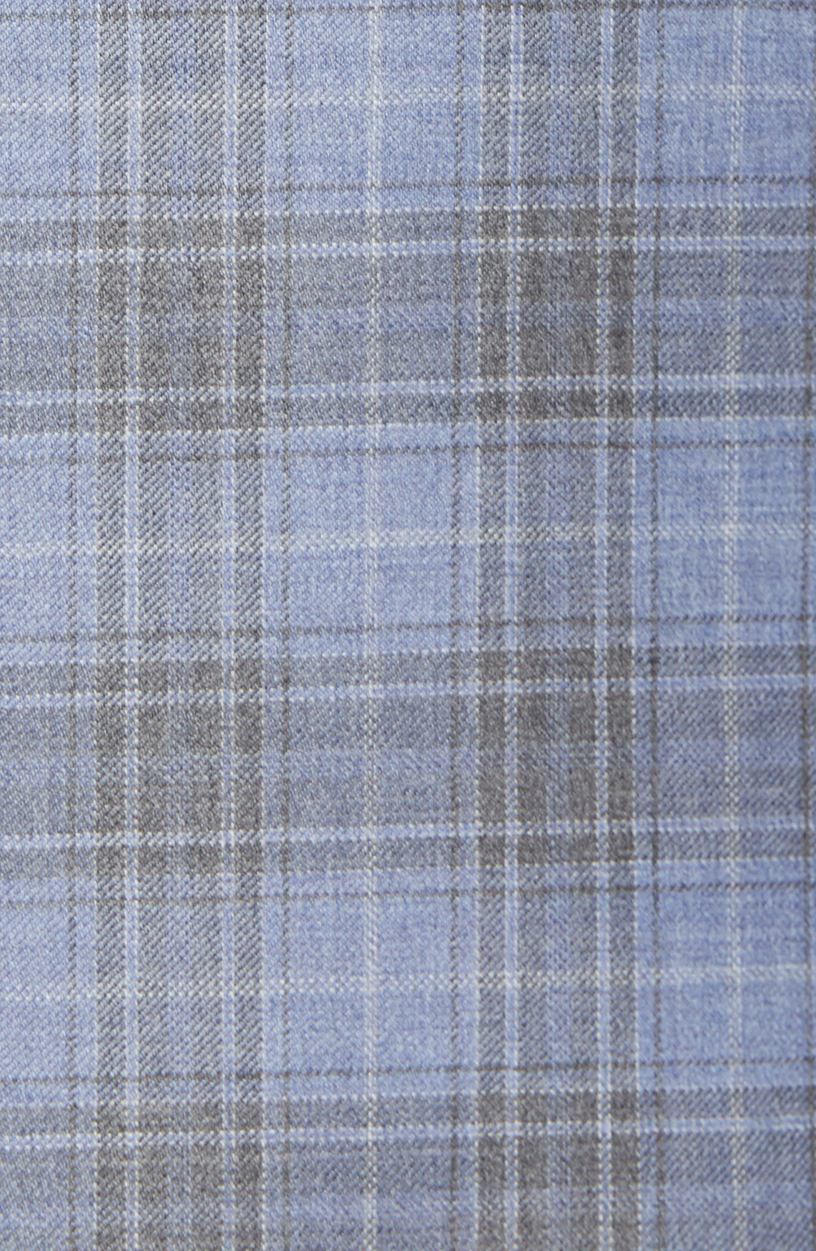 Jay Trim Fit Plaid Wool Sport Coat,                             Alternate thumbnail 6, color,                             400