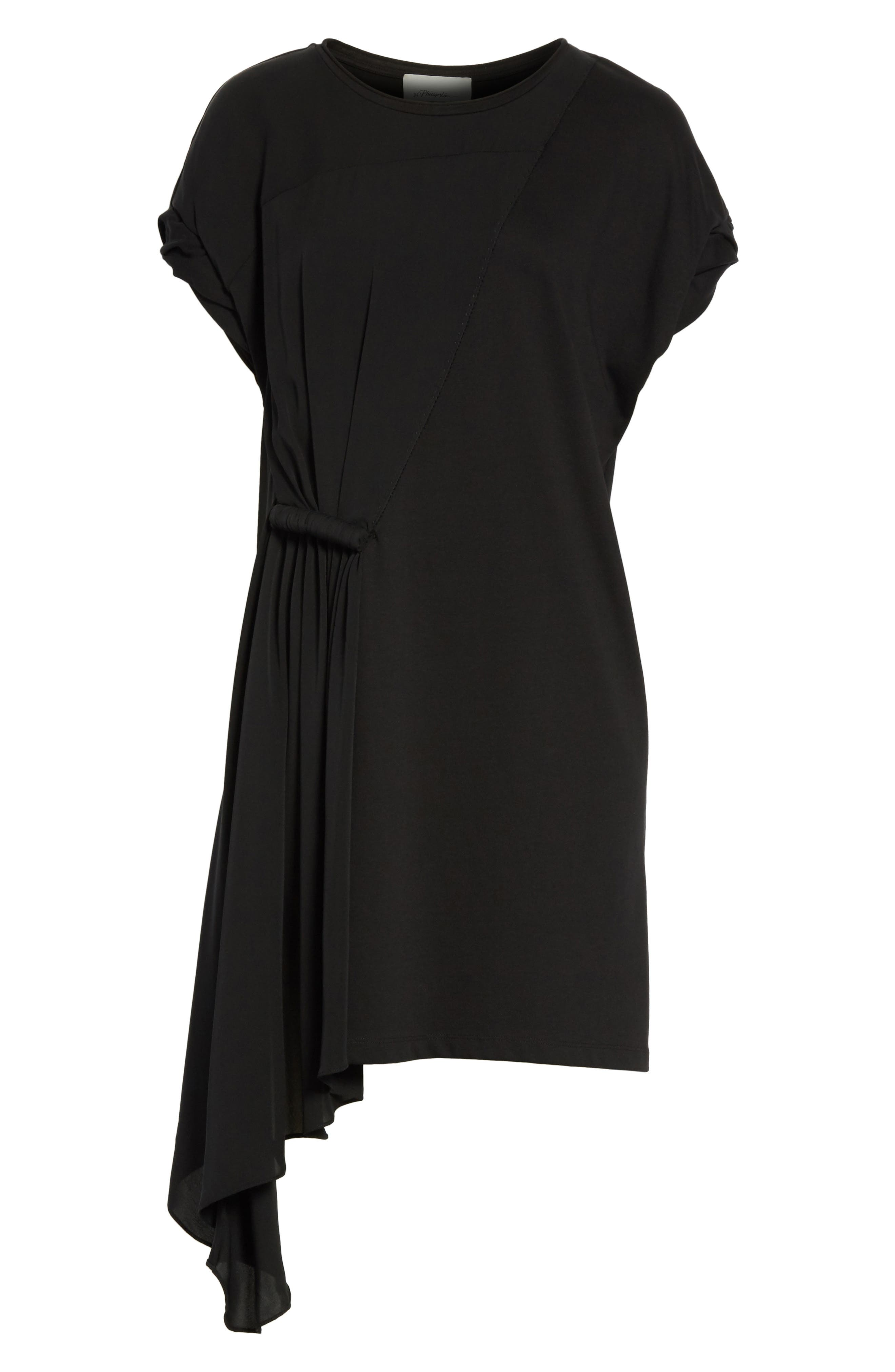 Gathered Waist Dress,                             Alternate thumbnail 6, color,                             001