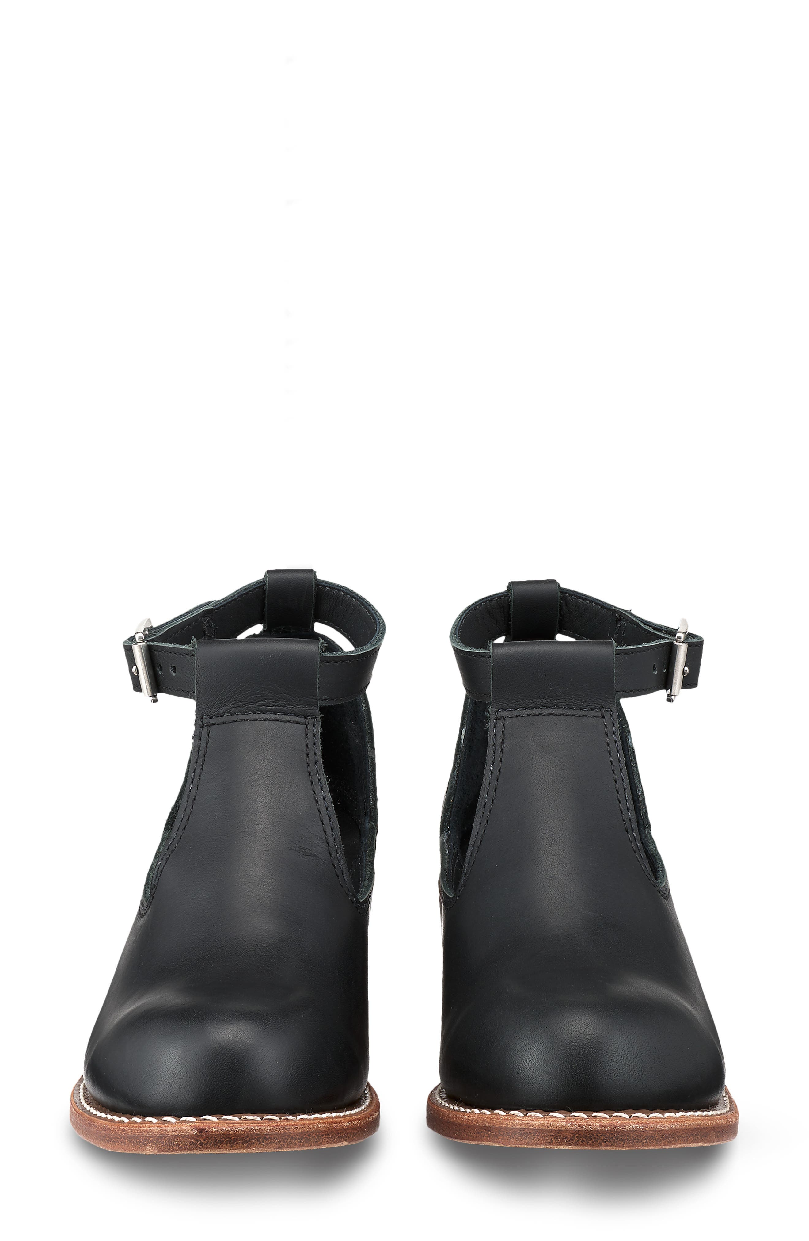 RED WING,                             Ida Cutout Bootie,                             Alternate thumbnail 3, color,                             BLACK BOUNDARY LEATHER