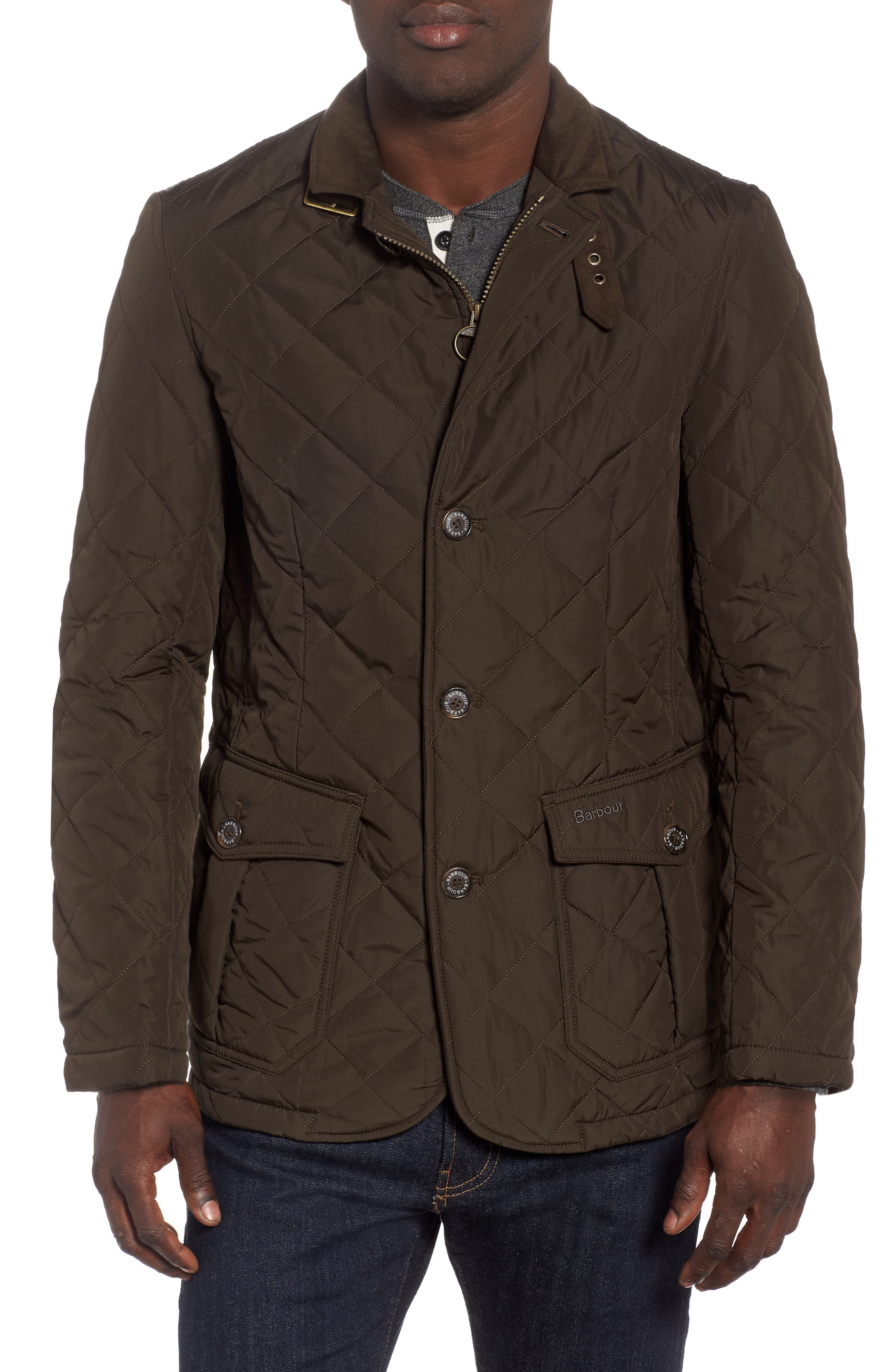 Barbour Lutz Quilted Jacket, Green