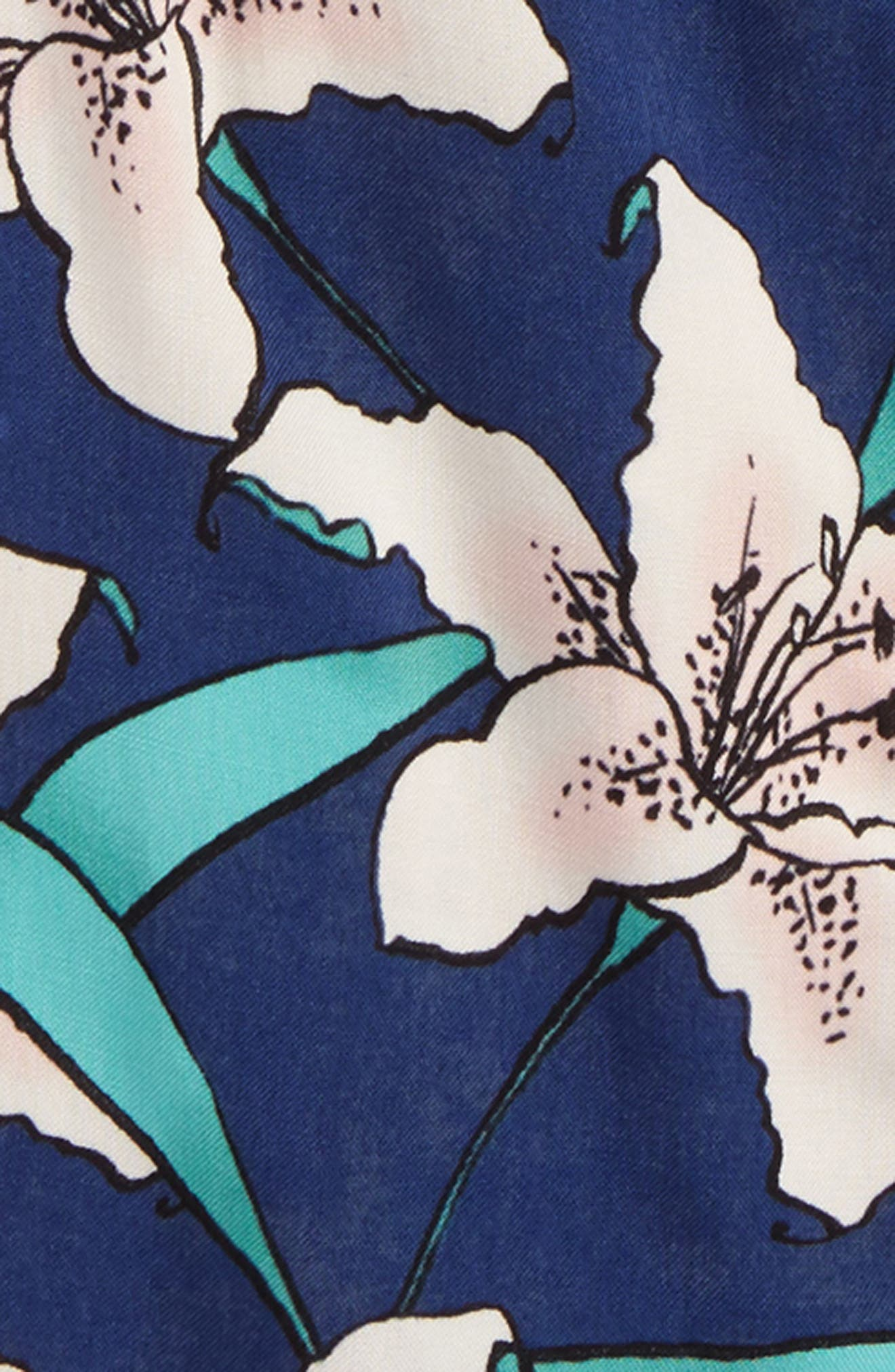 Cooper Woven Cold Shoulder Top,                             Alternate thumbnail 2, color,                             ESTATE BLUE