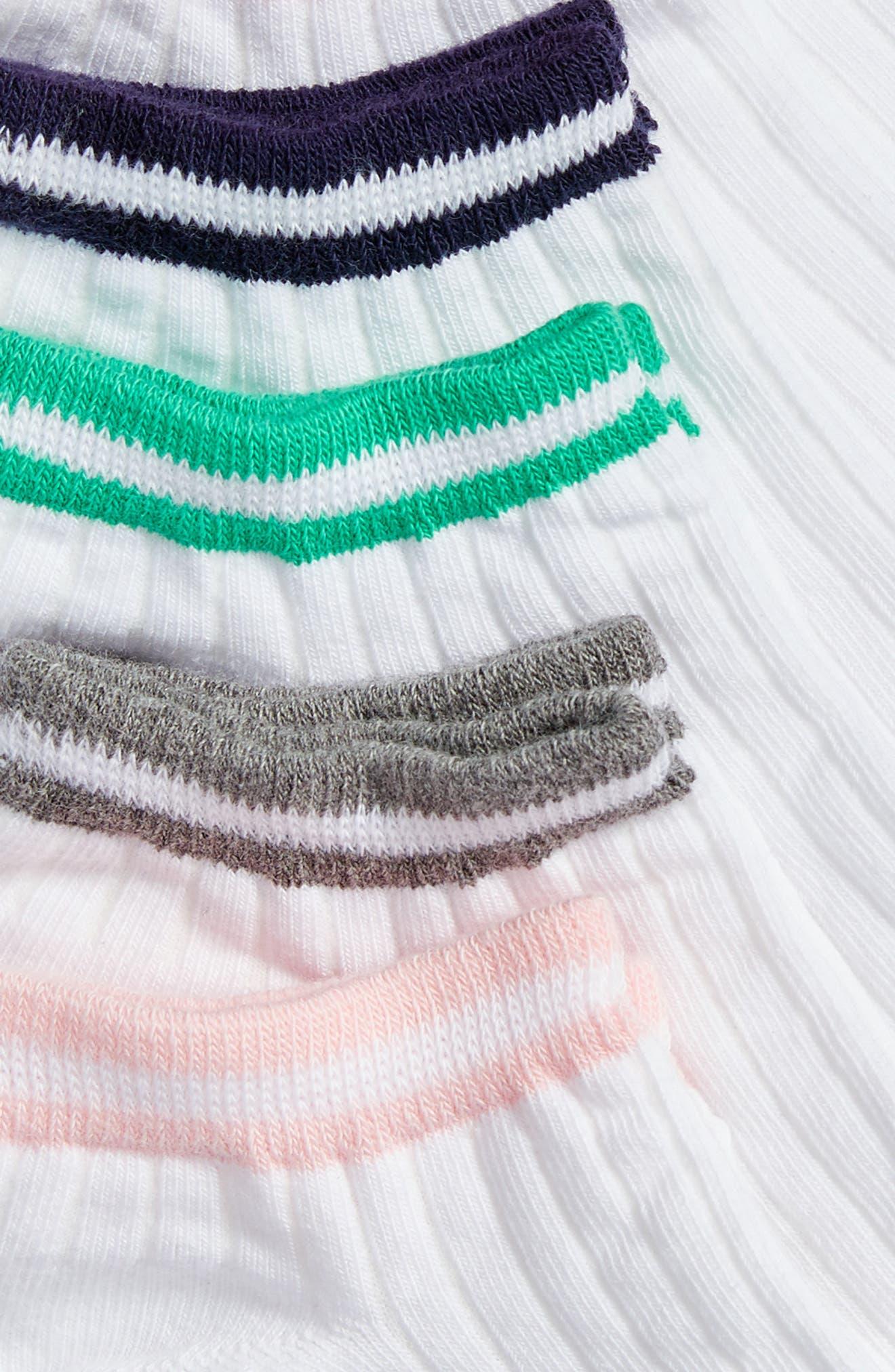6-Pack Athleisure Stripe Low Cut Socks,                             Alternate thumbnail 2, color,
