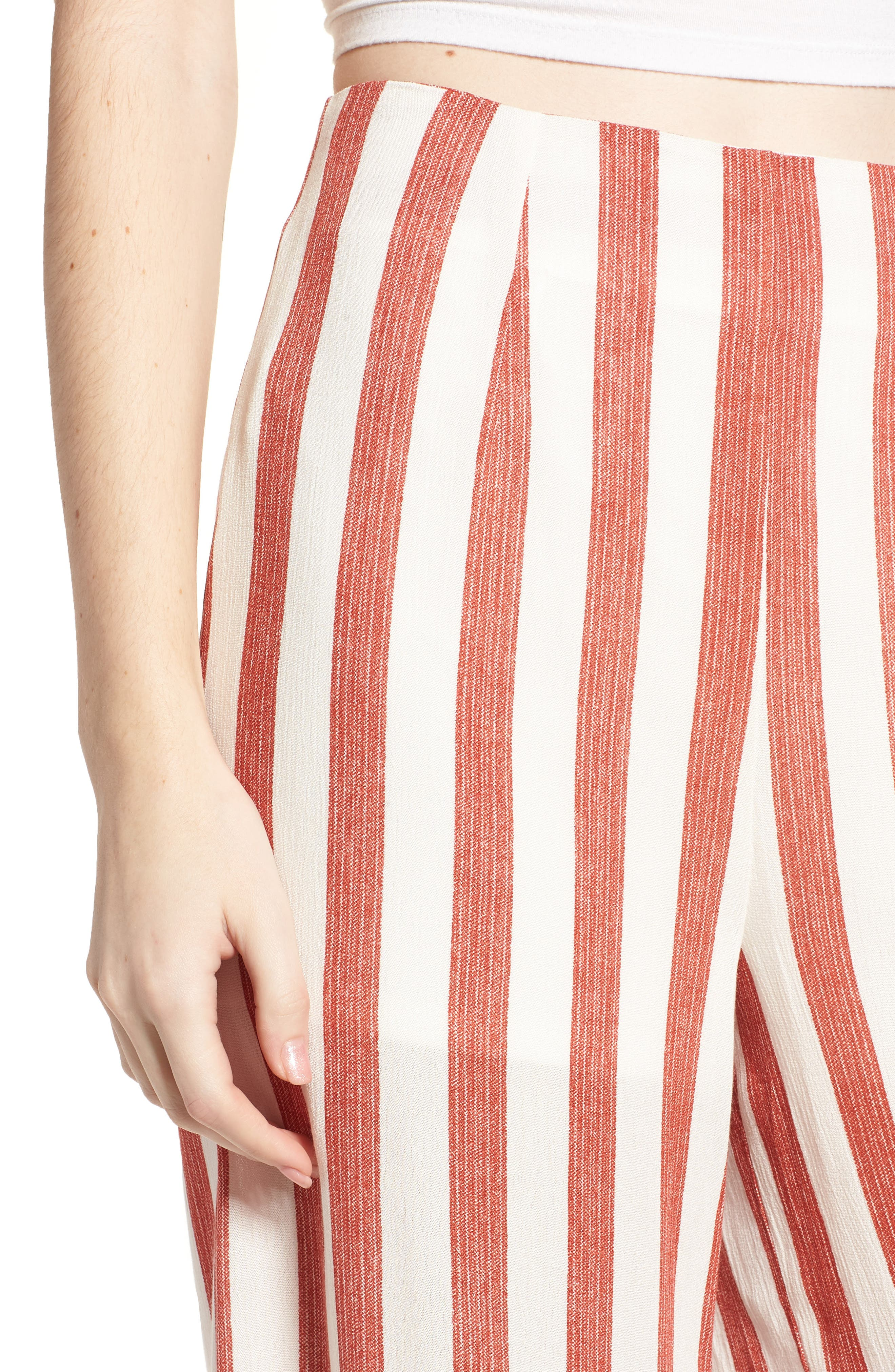 Stripe Culottes,                             Alternate thumbnail 4, color,
