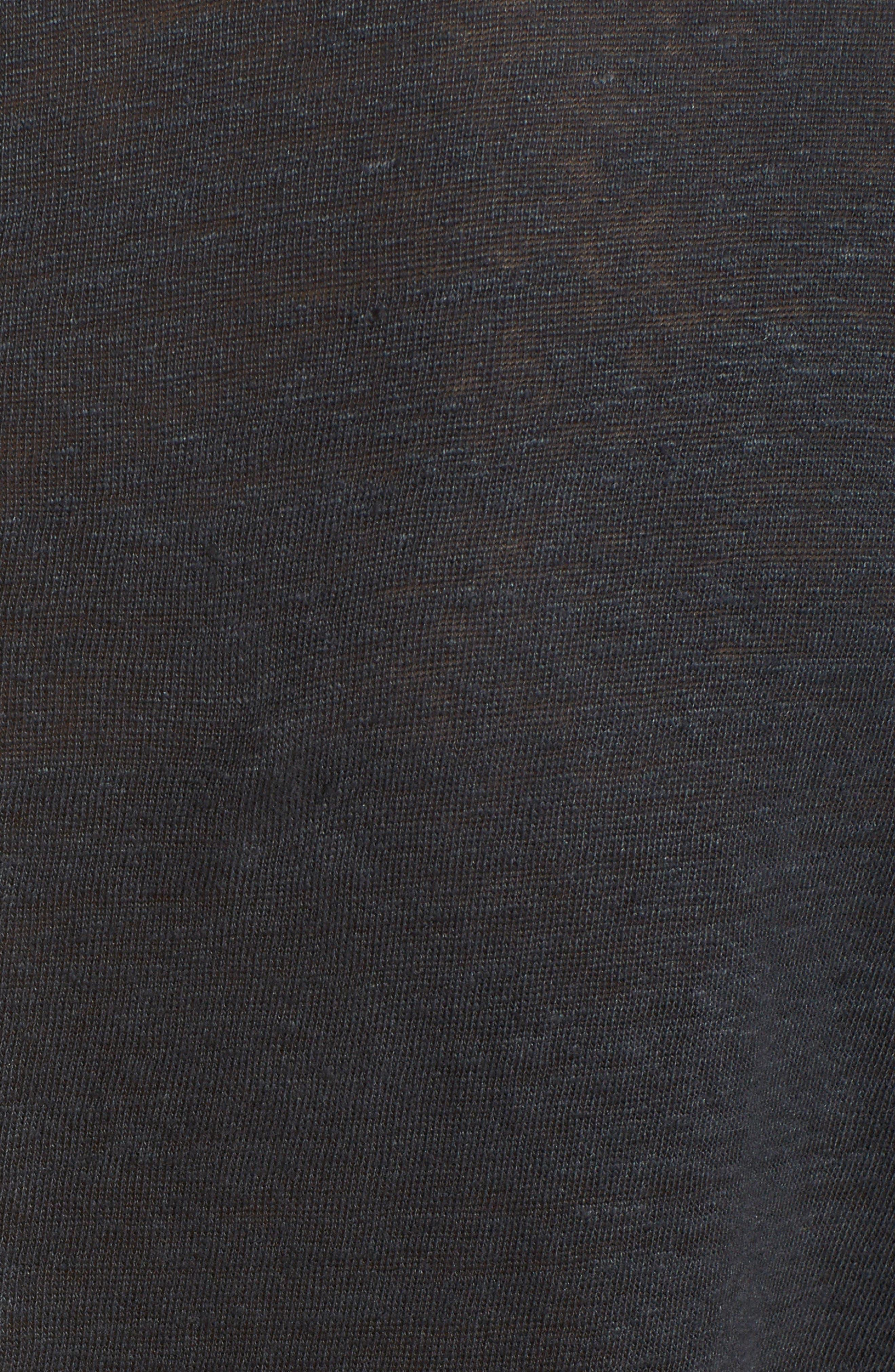 Owen Slub Linen T-Shirt,                             Alternate thumbnail 5, color,                             001