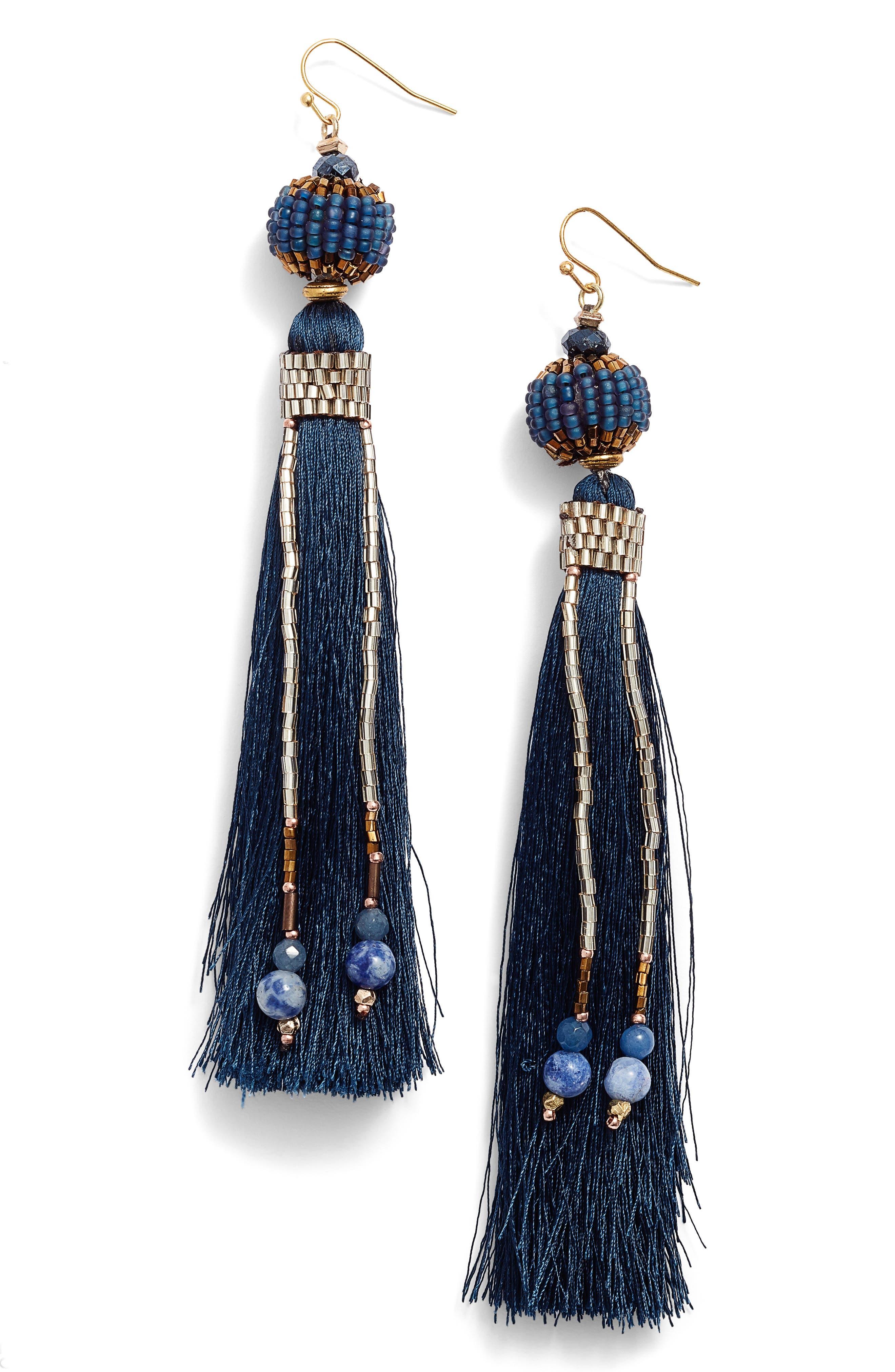 Tassel & Chain Earrings,                             Main thumbnail 1, color,                             400