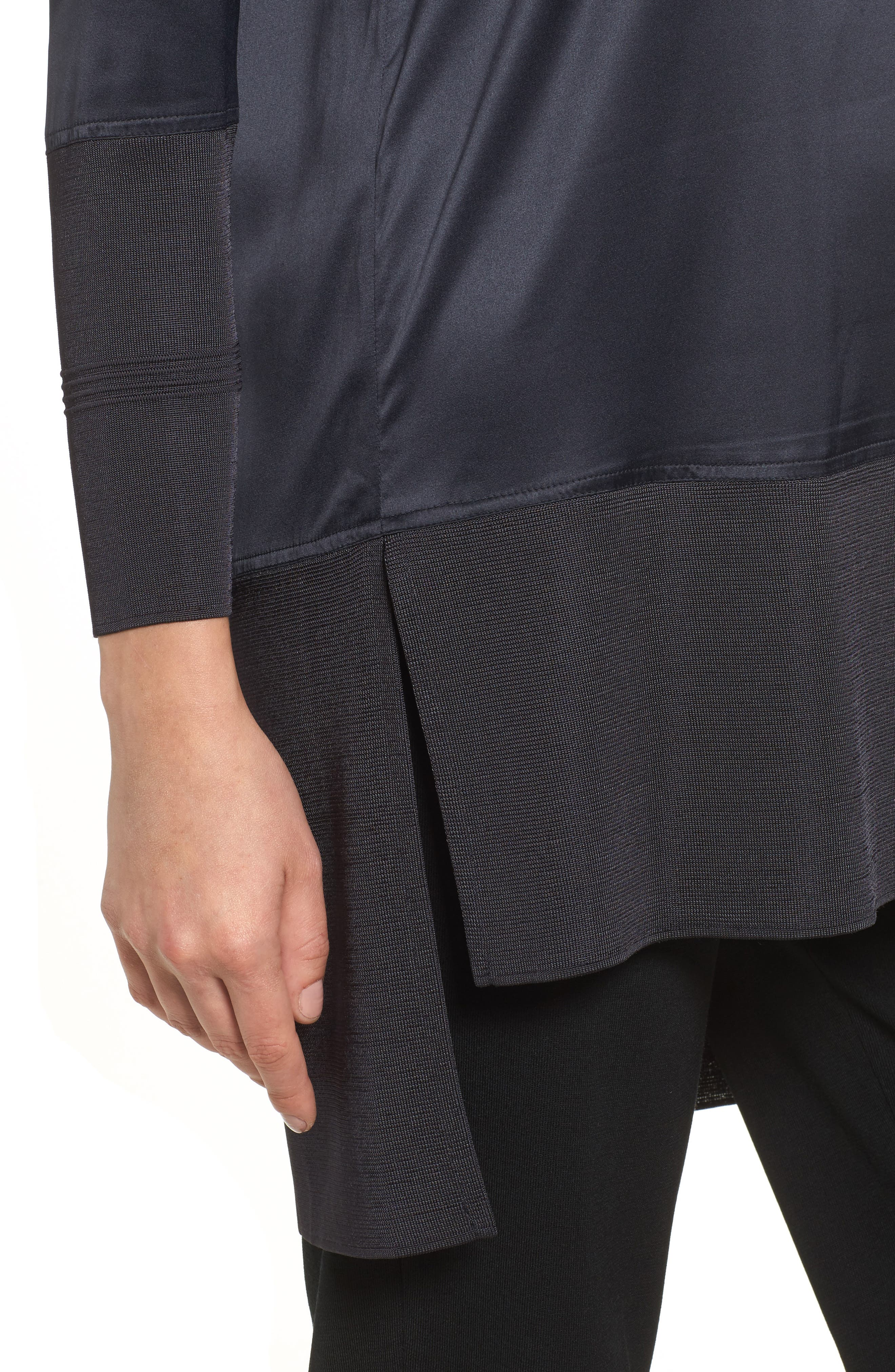 Mixed Media High/Low Tunic,                             Alternate thumbnail 4, color,                             001