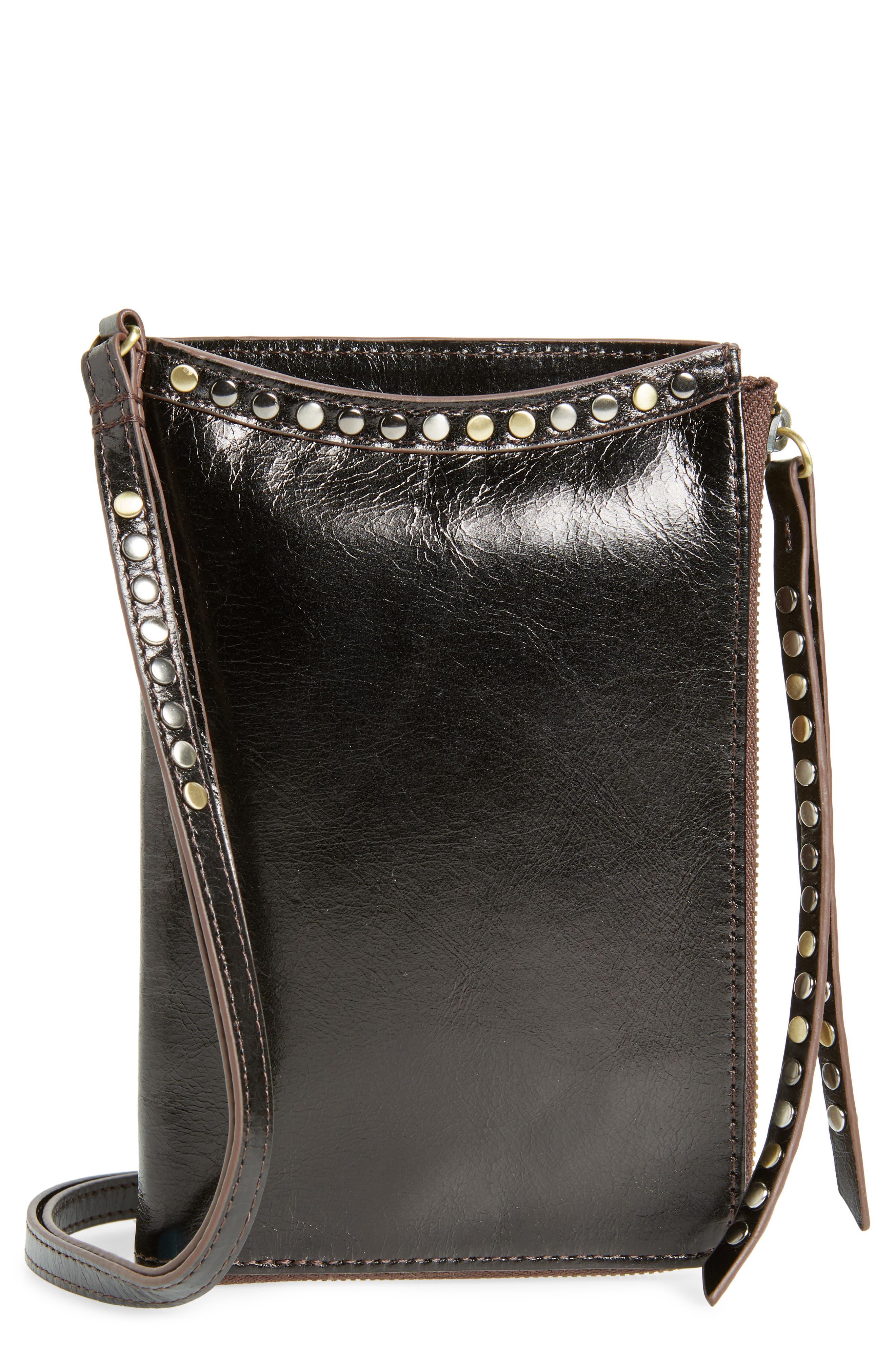 HOBO,                             Moxie Leather Crossbody Bag,                             Main thumbnail 1, color,                             BLACK
