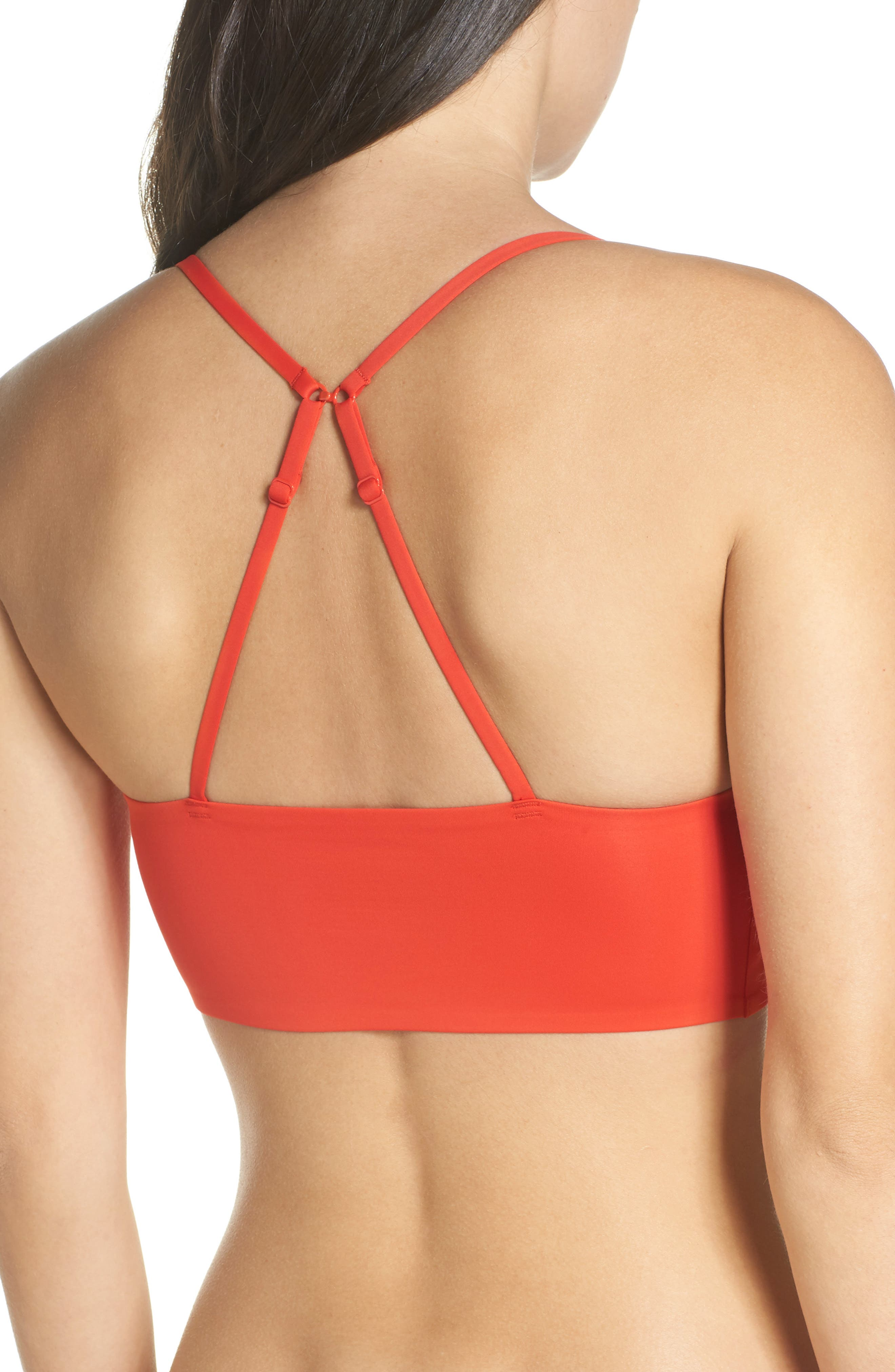Intimately FP Sage Longline Bralette,                             Alternate thumbnail 3, color,                             RED