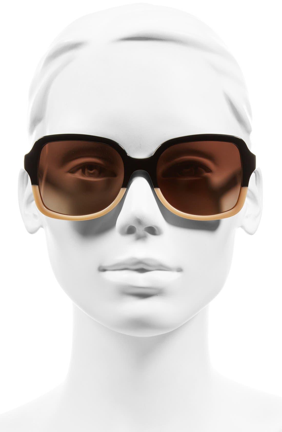 55mm Polarized Sunglasses,                             Alternate thumbnail 2, color,                             001