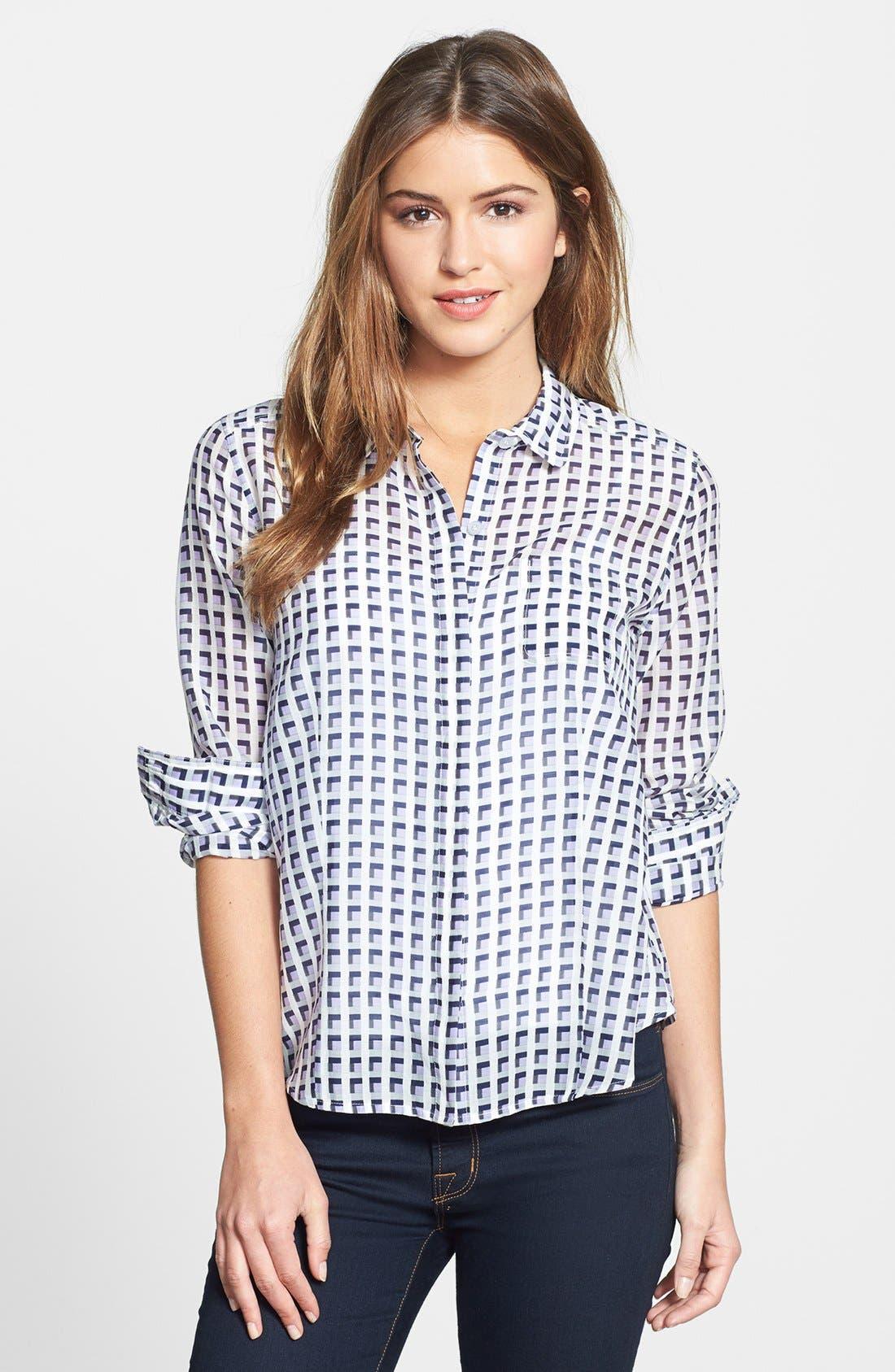 Cotton & Silk Shirt,                             Main thumbnail 13, color,