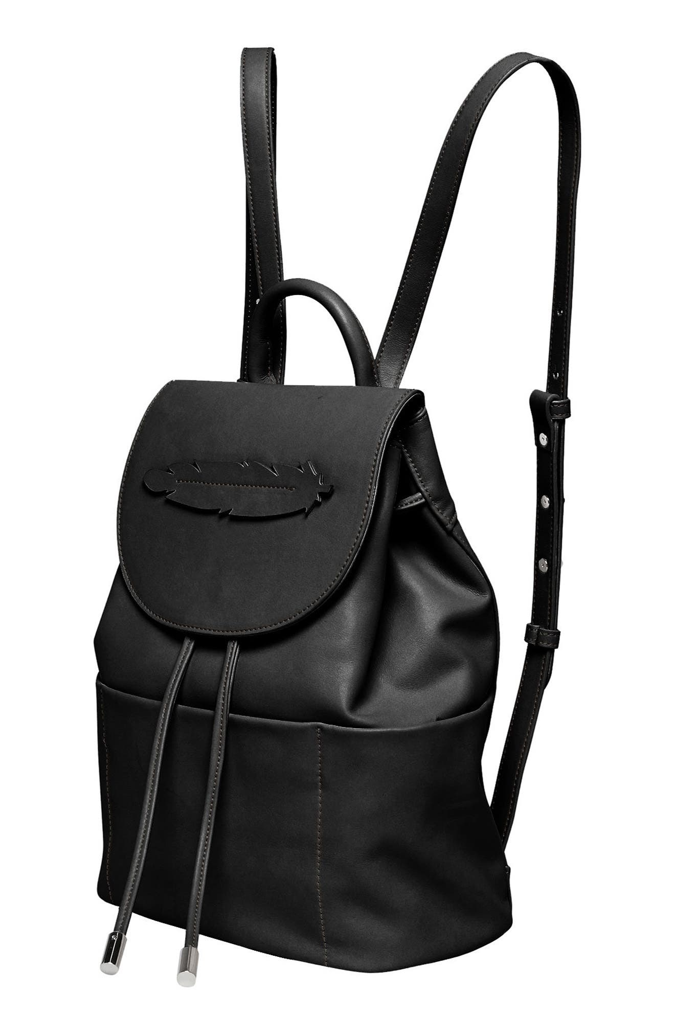 Dream Girl Vegan Leather Backpack,                             Alternate thumbnail 4, color,                             001
