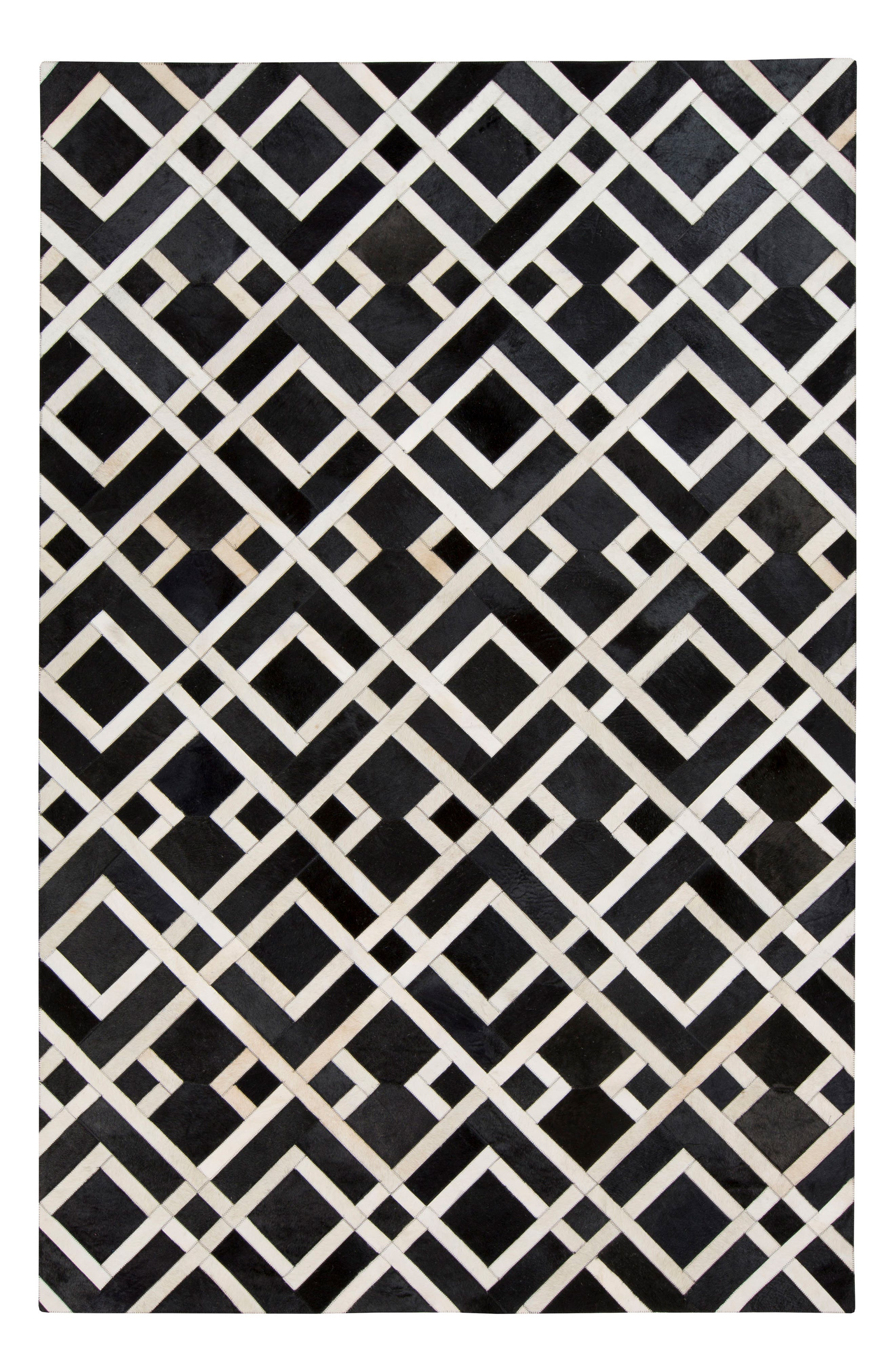Trail Gate Hand Stitched Calf Hair Rug,                         Main,                         color, 001
