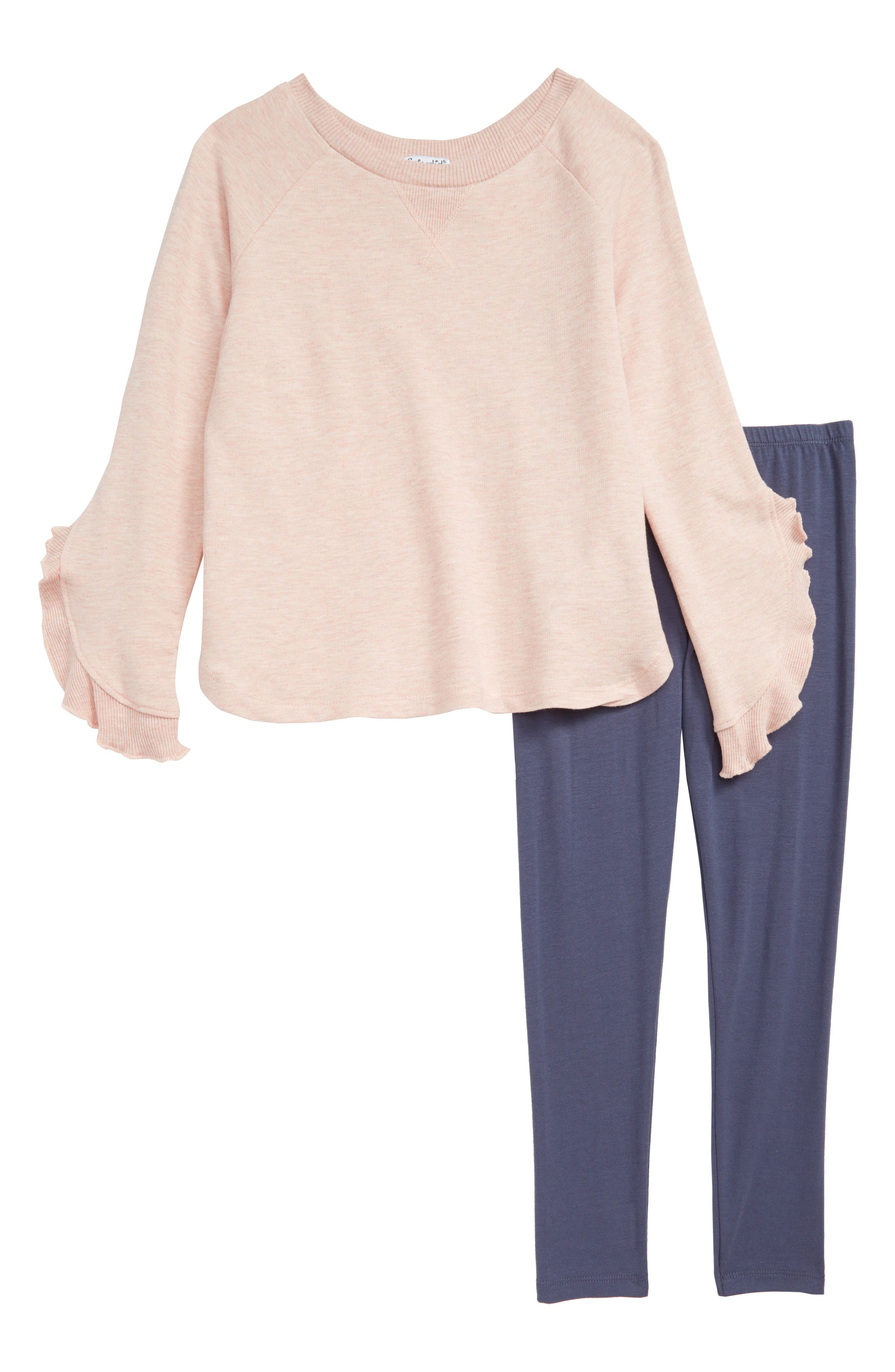 Bell Sleeve Top & Leggings Set,                             Main thumbnail 1, color,                             650