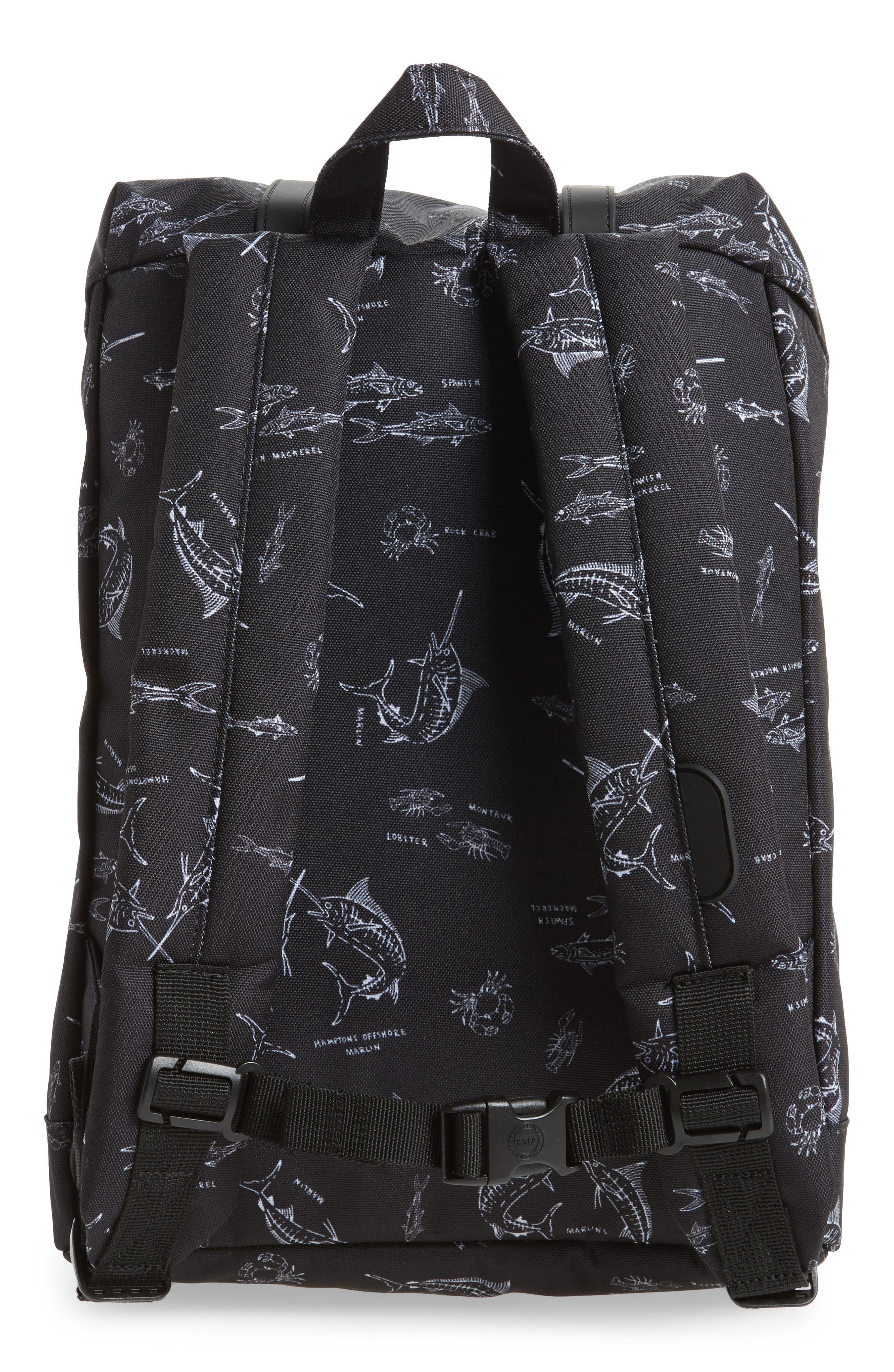 Retreat Fish Print Backpack,                             Alternate thumbnail 2, color,