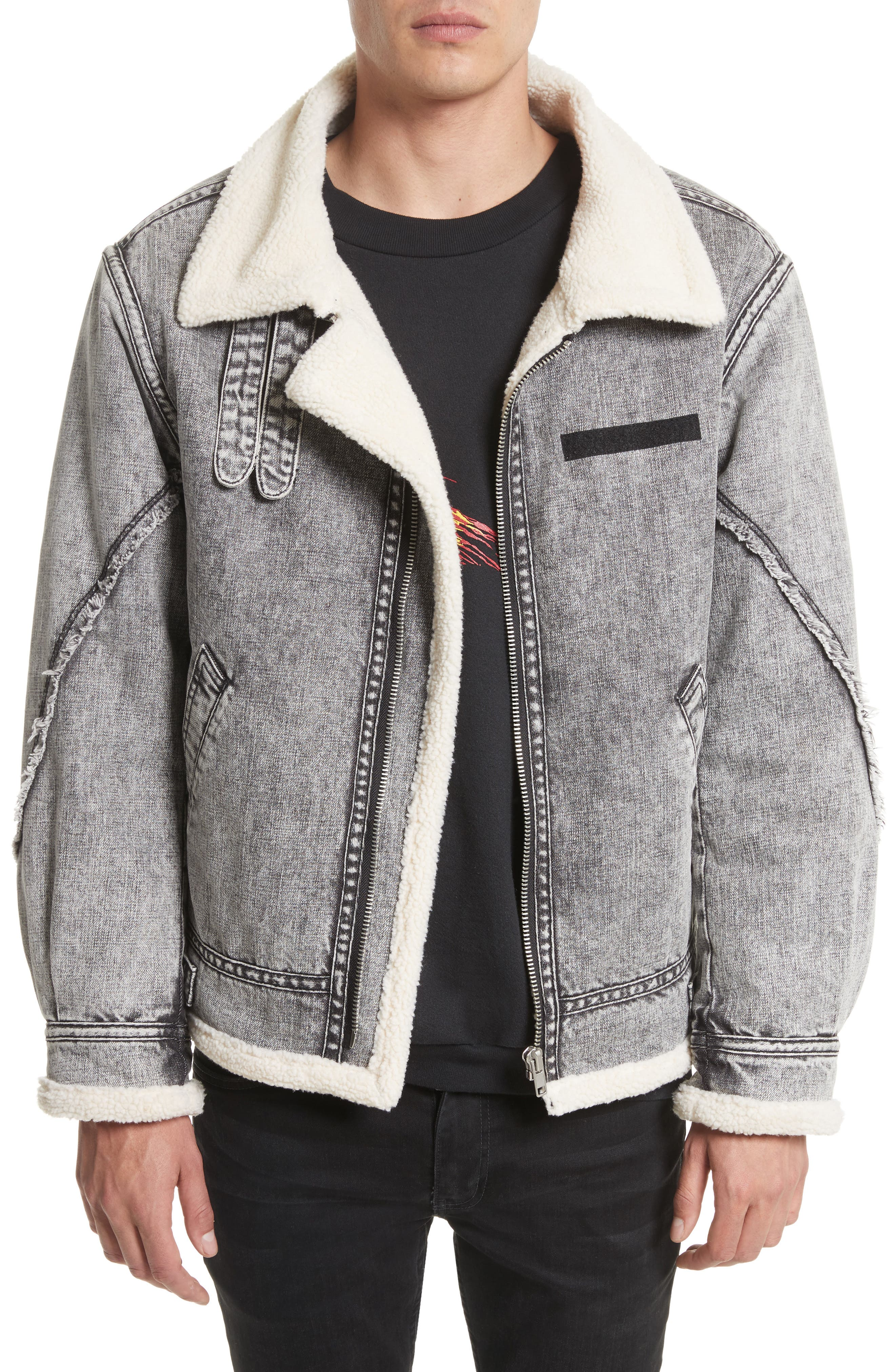 Denim Bomber Jacket,                             Main thumbnail 1, color,                             036