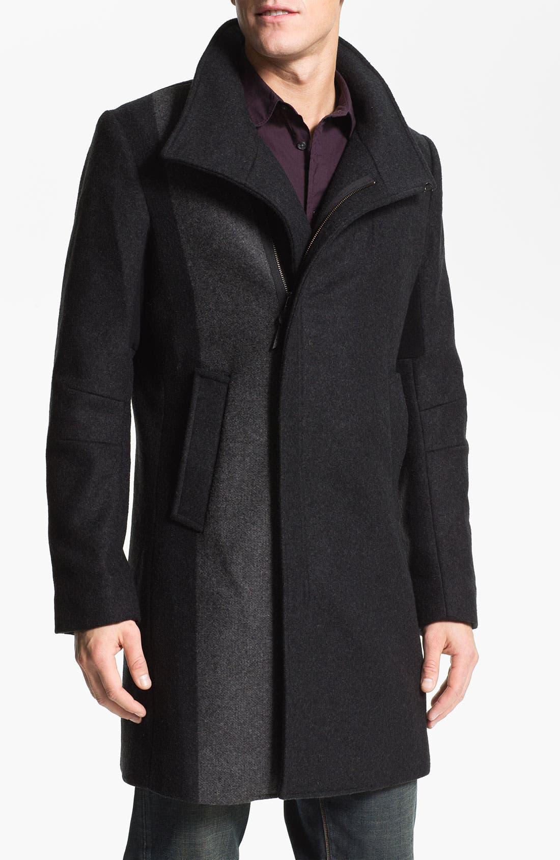 Funnel Neck Top Coat, Main, color, 015