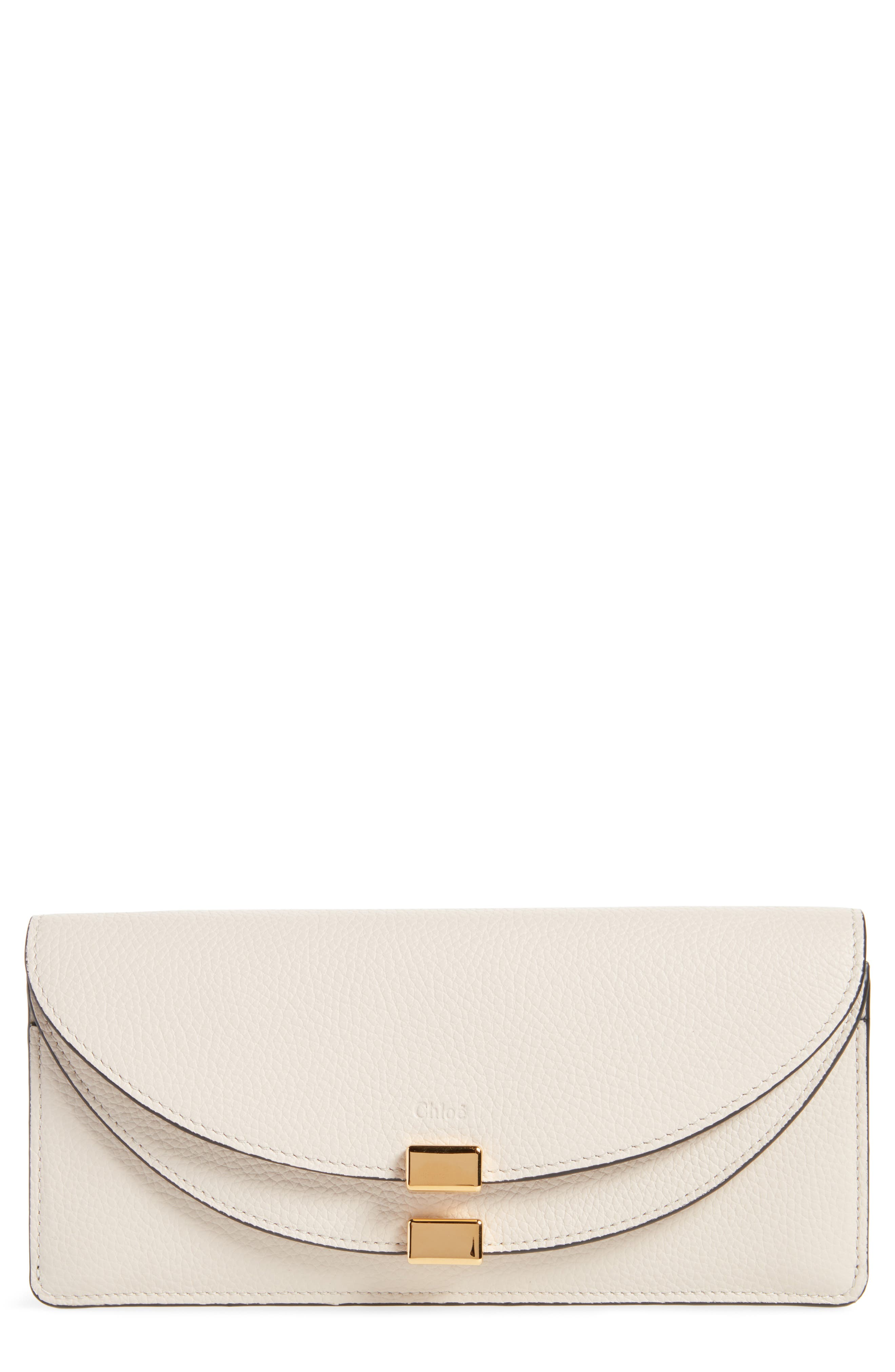 Georgia Continental Leather Wallet,                         Main,                         color, ABSTRACT WHITE