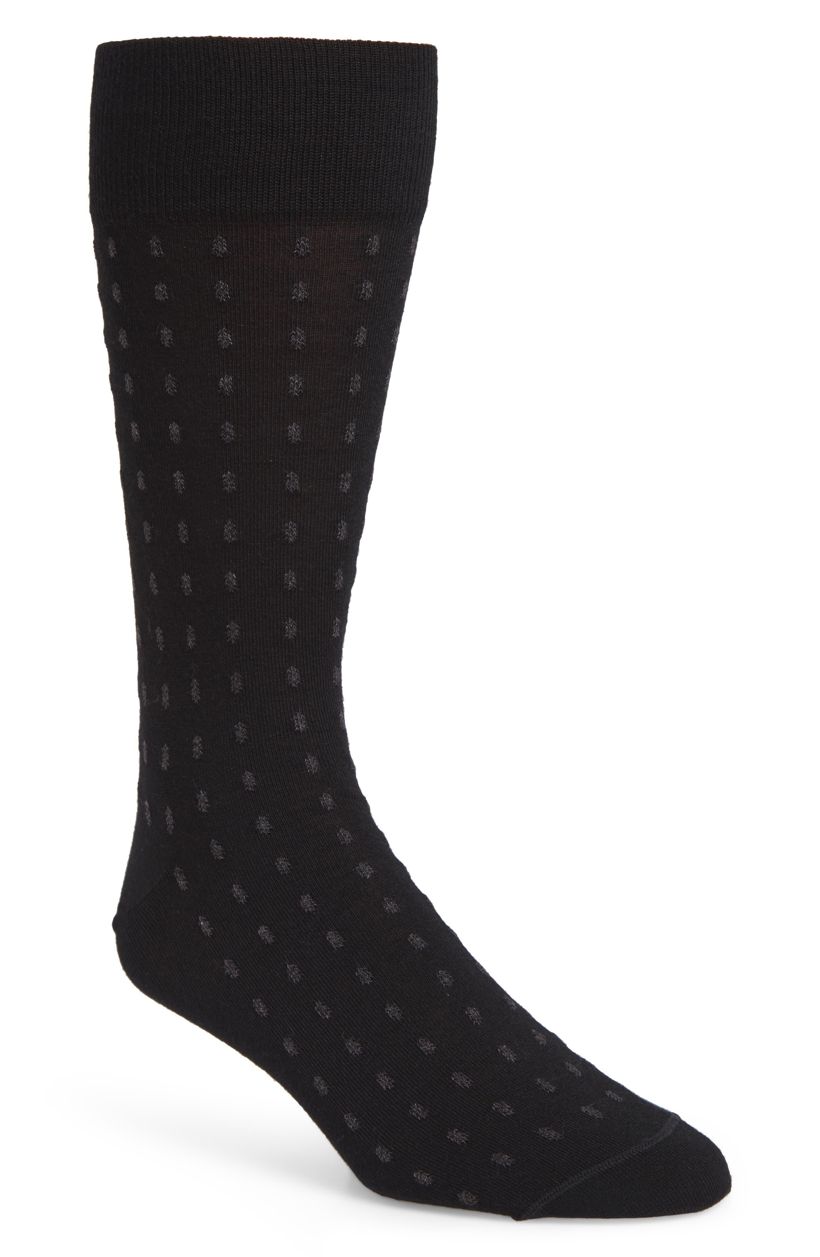 John W. Nordstrom Dot Merino Wool Blend Socks,                             Main thumbnail 1, color,                             021