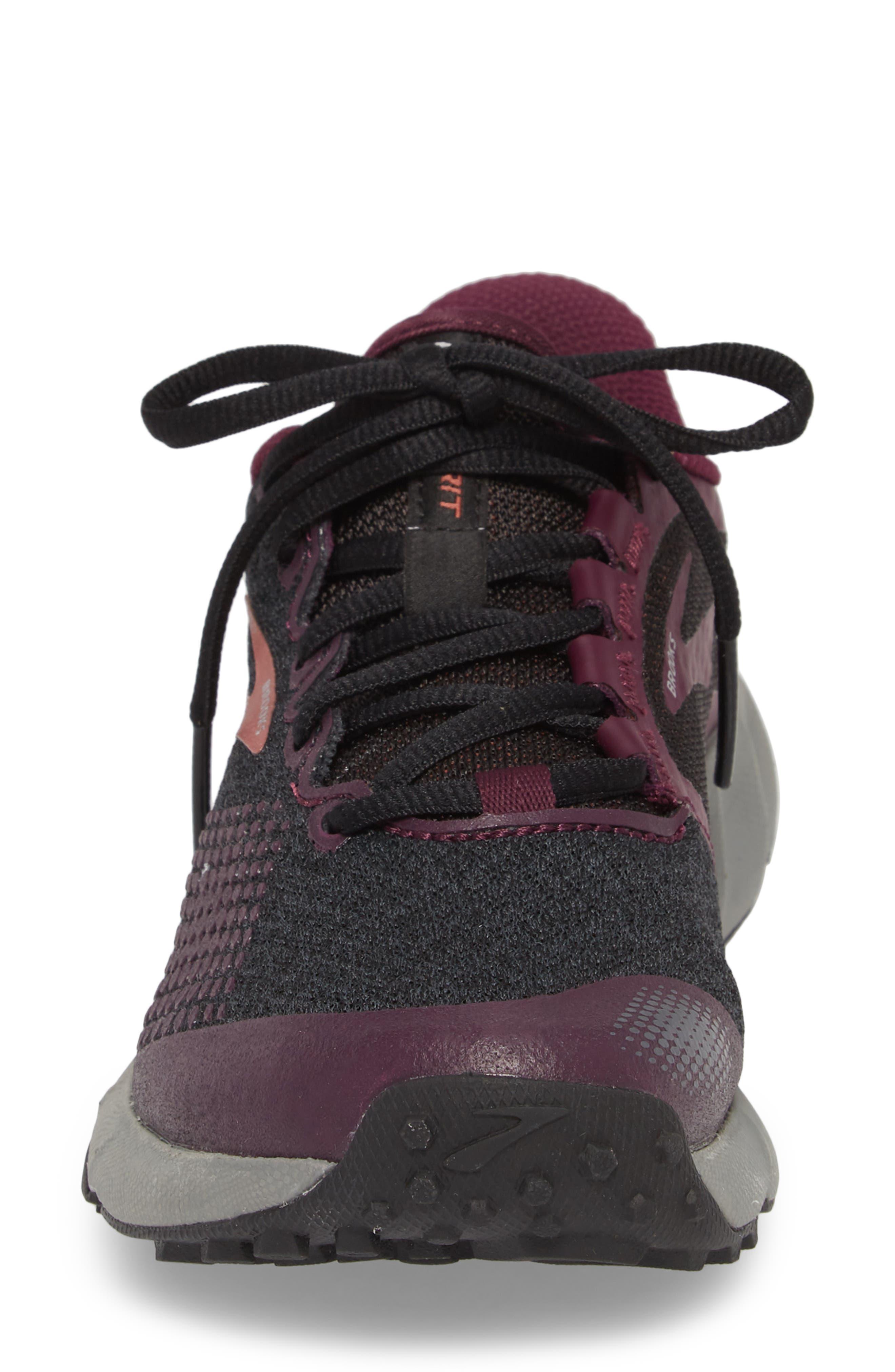 PureGrit 7 Trail Running Shoe,                             Alternate thumbnail 4, color,                             BLACK/ PURPLE/ GREY