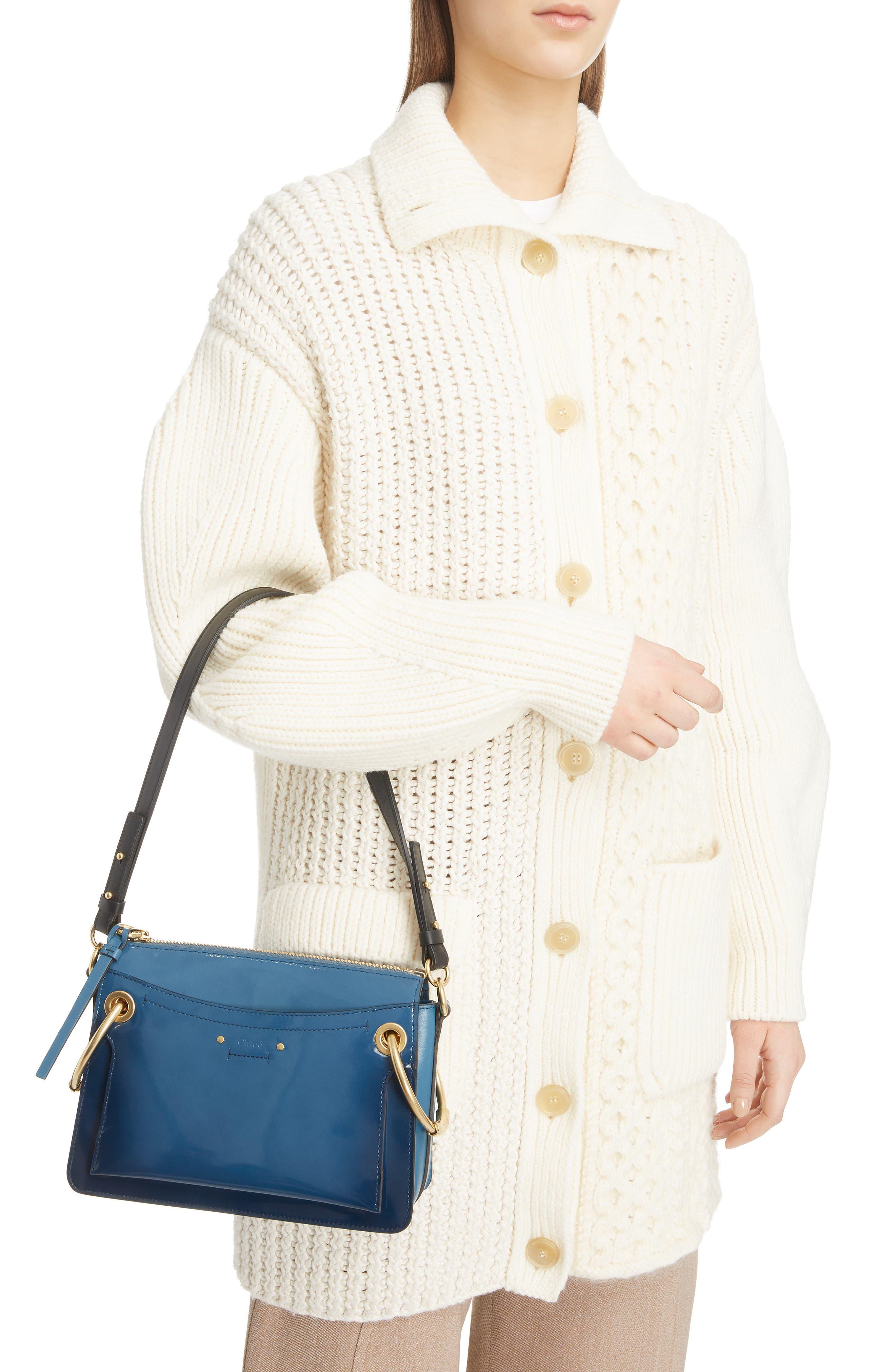 Small Roy Leather Shoulder Bag,                             Alternate thumbnail 2, color,                             VINYL BLUE