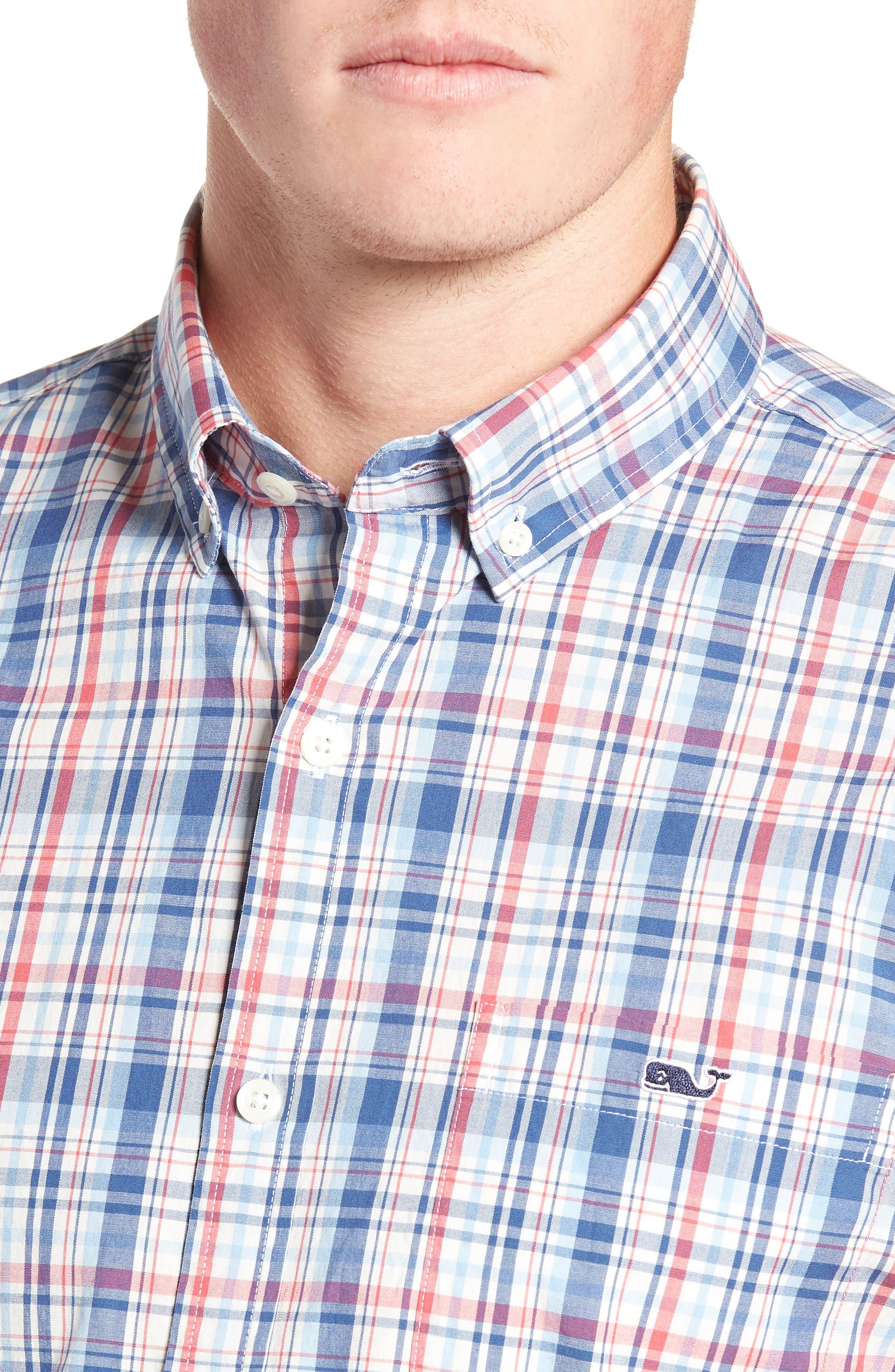 Duke's County Slim Fit Plaid Shirt,                             Alternate thumbnail 2, color,                             MOONSHINE