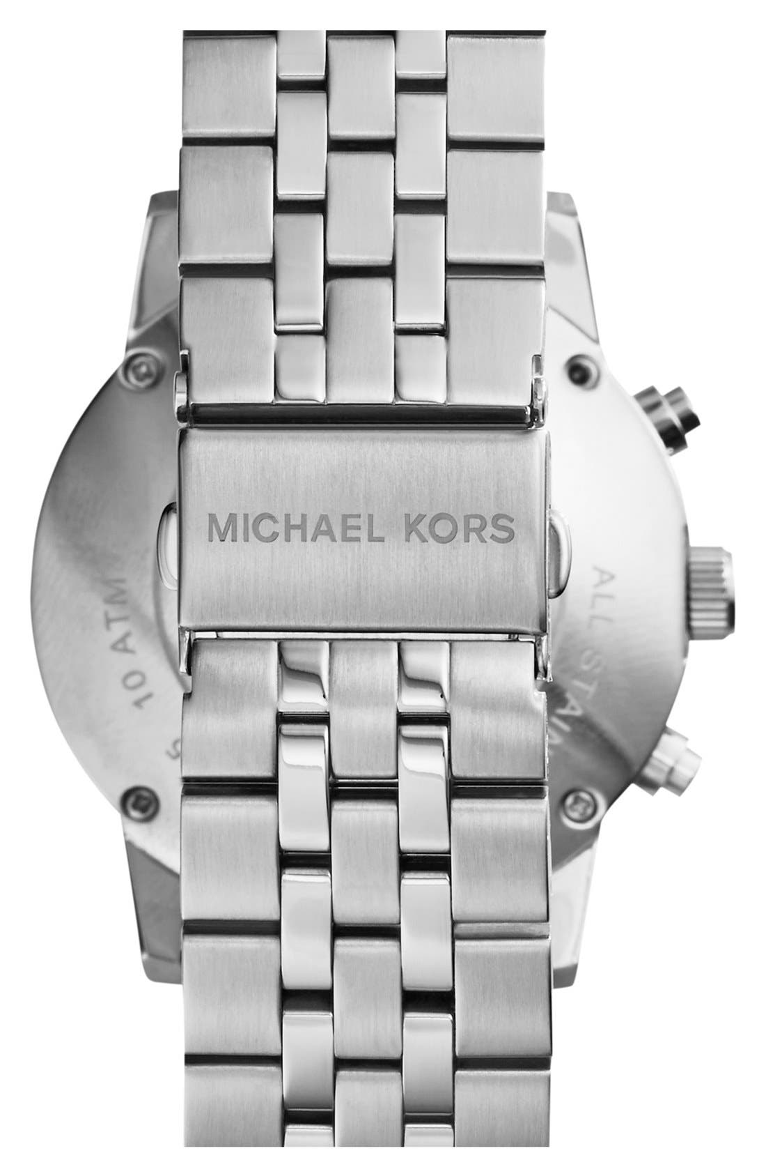 Michael Kors Knurling Edge Stainless Steel Watch, 42mm,                             Alternate thumbnail 3, color,