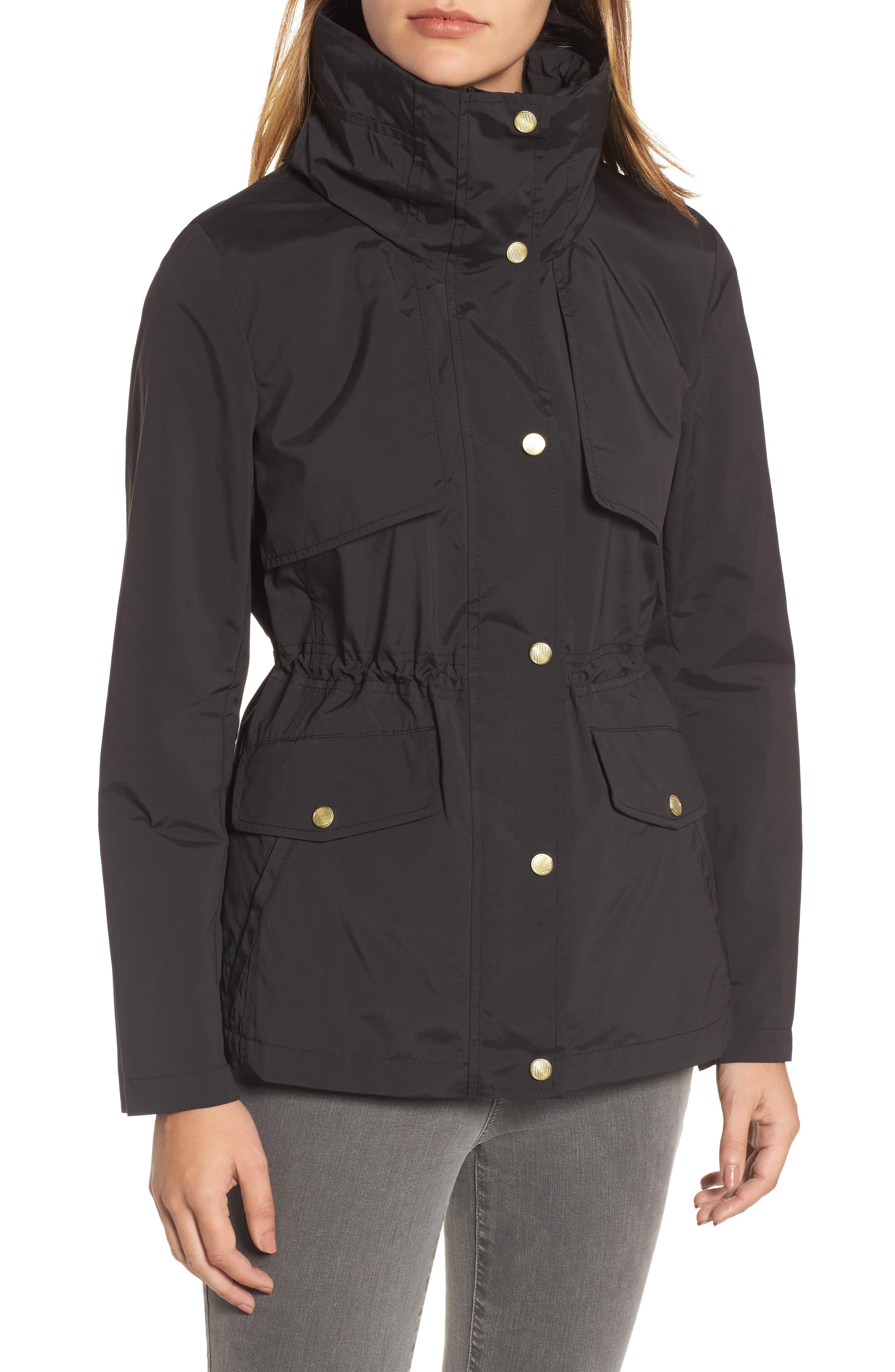 Packable Raincoat,                             Alternate thumbnail 4, color,                             BLACK