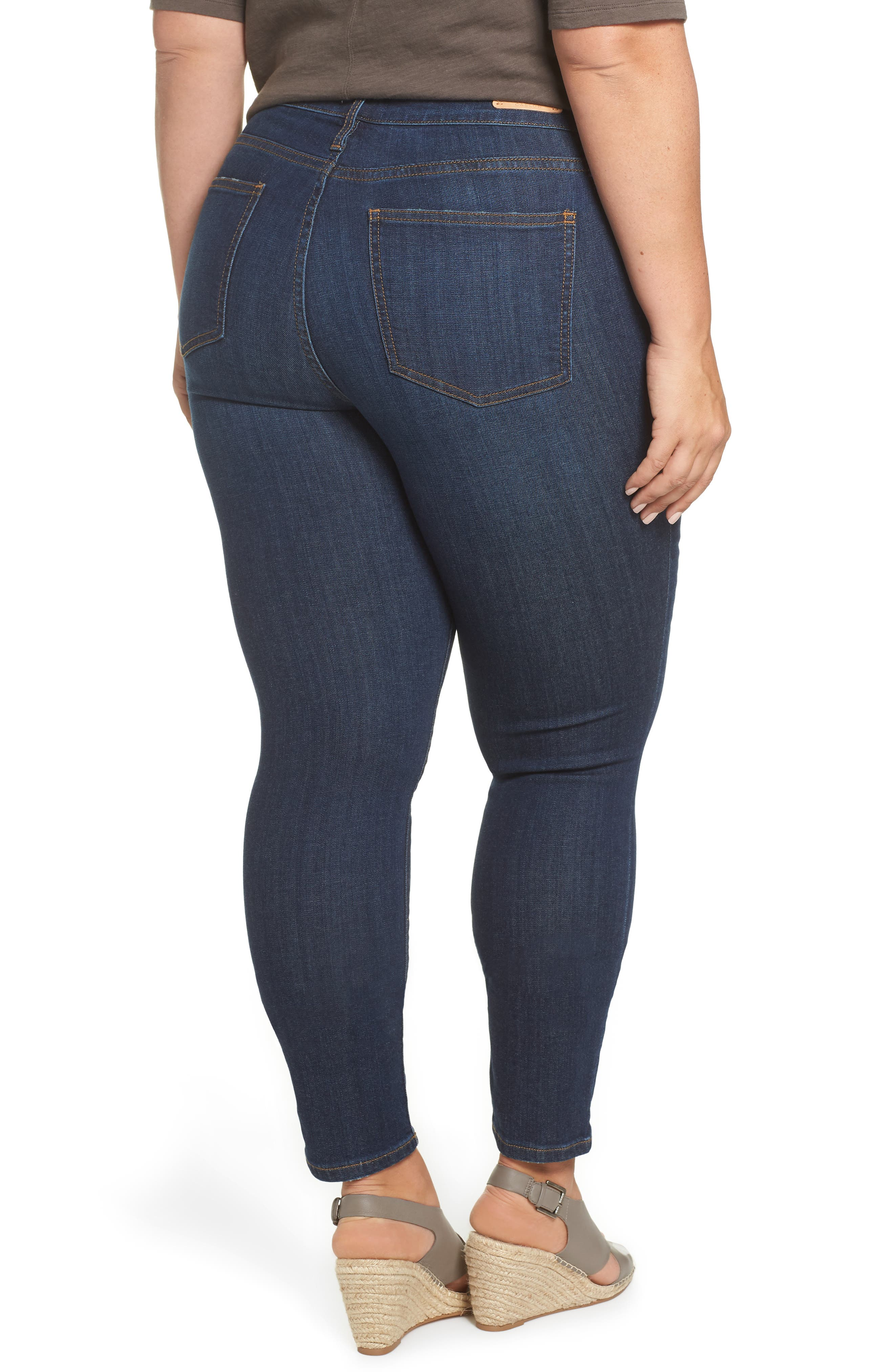 Stretch Skinny Jeans,                             Alternate thumbnail 2, color,                             MEDIUM WASH