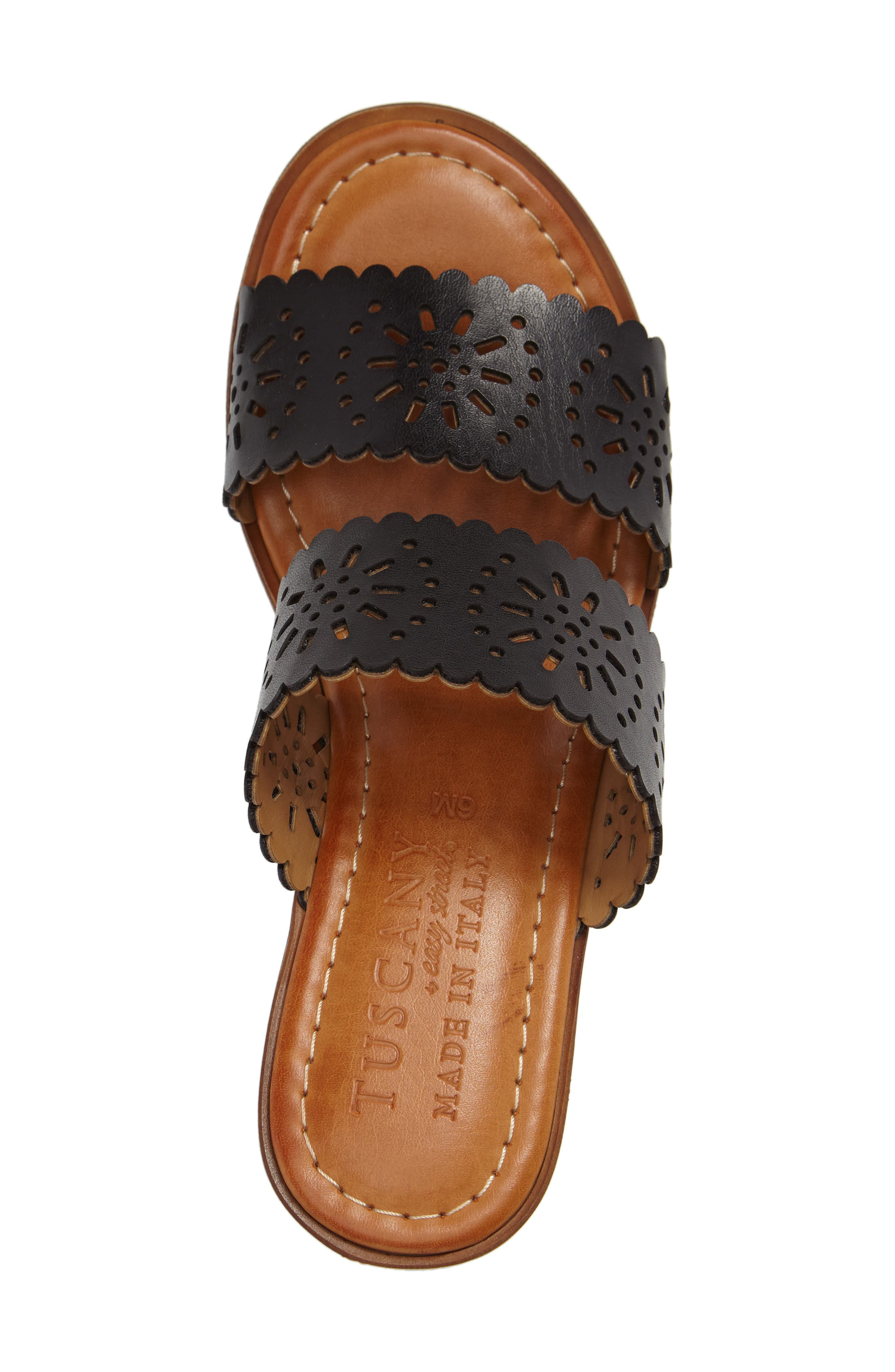 by Easy Street<sup>®</sup> Susana Sandal,                             Alternate thumbnail 3, color,                             BLACK FAUX PATENT
