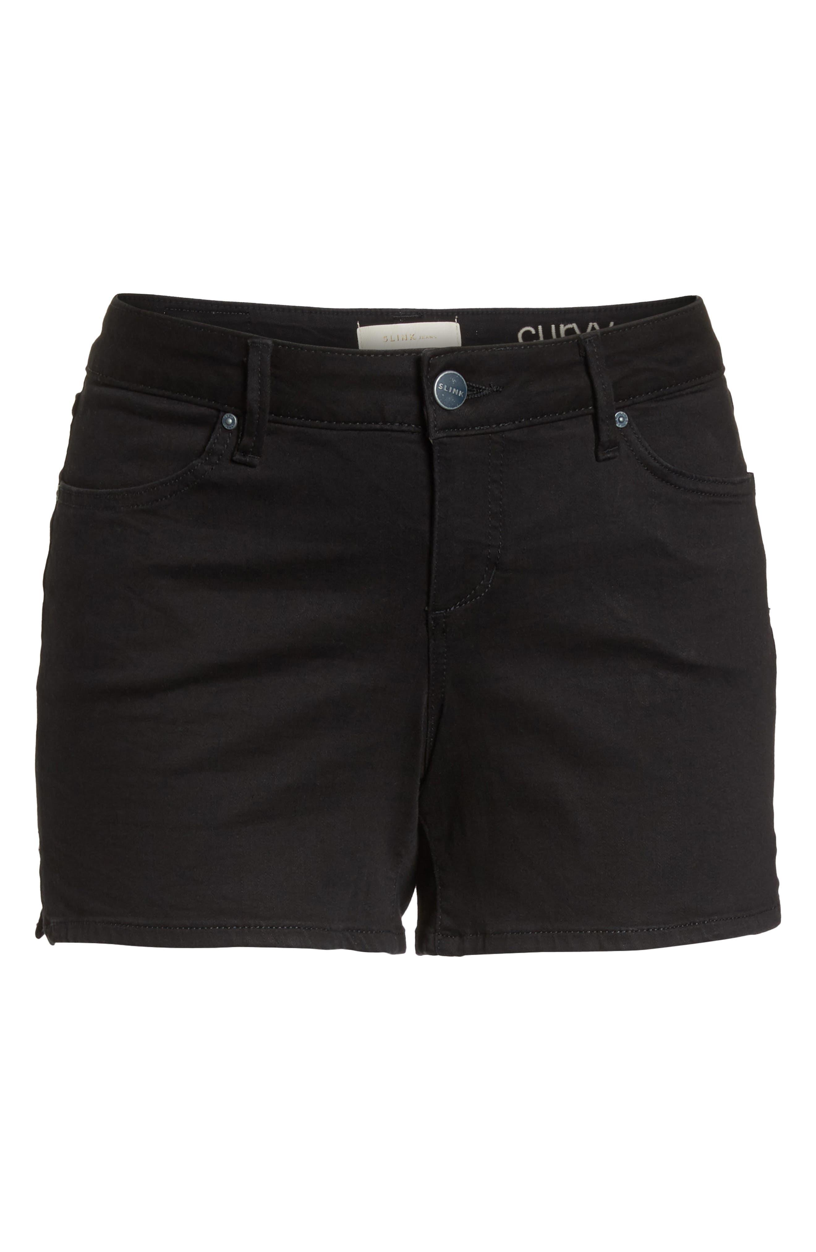 Denim Shorts,                             Alternate thumbnail 7, color,                             001