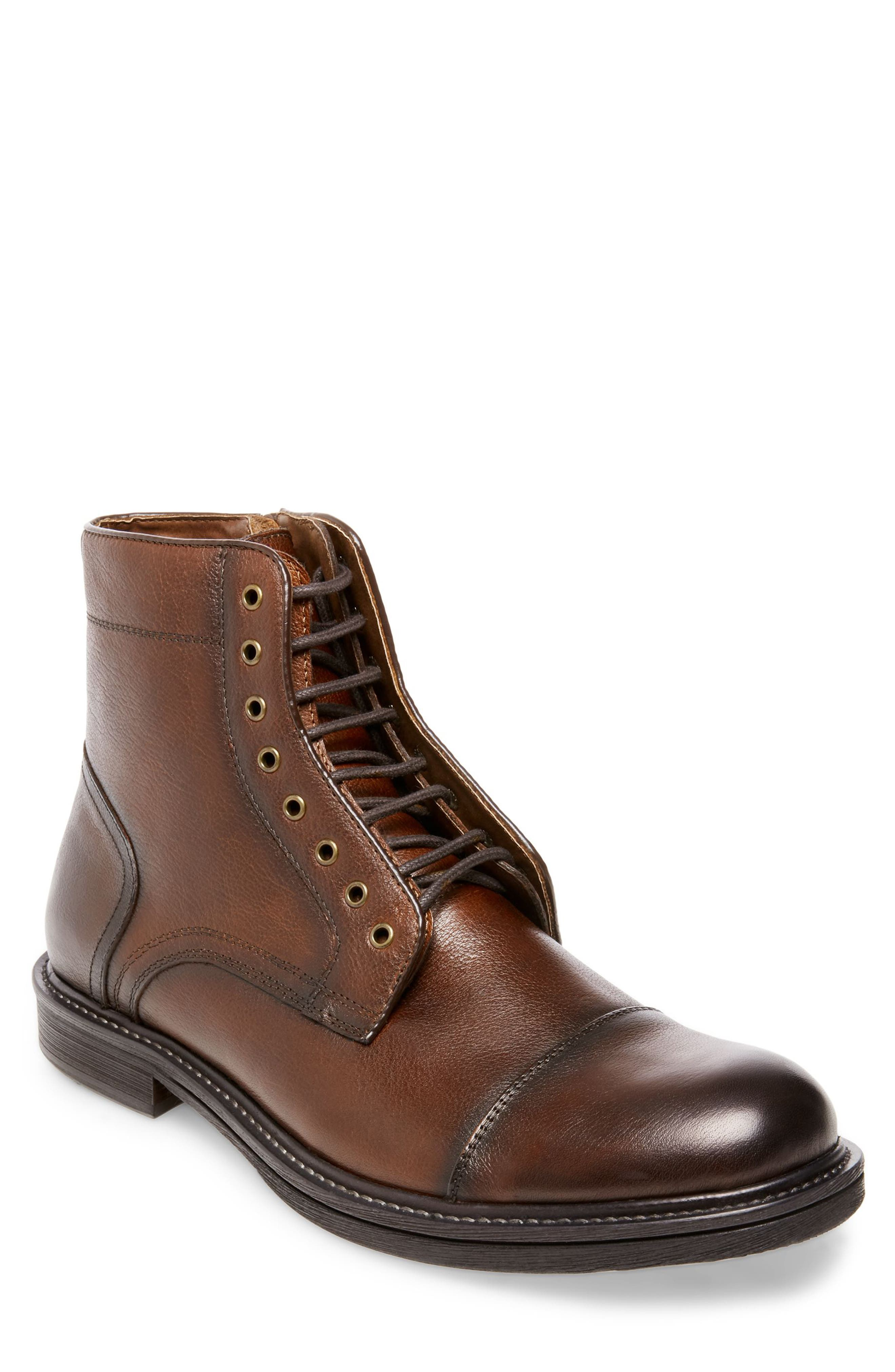 Chariot Boot,                             Main thumbnail 1, color,                             COGNAC LEATHER