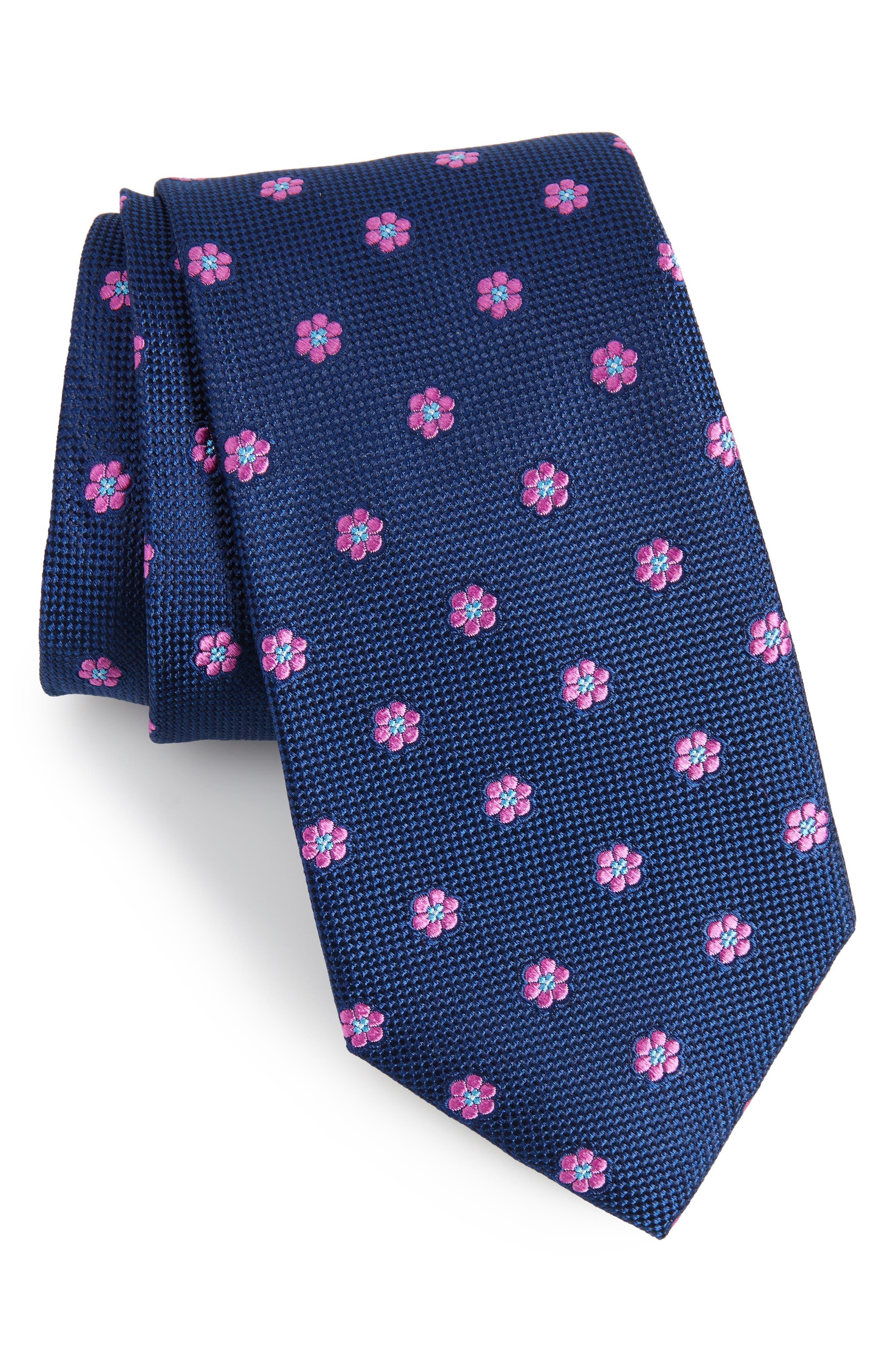 Calibrate Cloisters Neat Silk Tie,                             Main thumbnail 3, color,