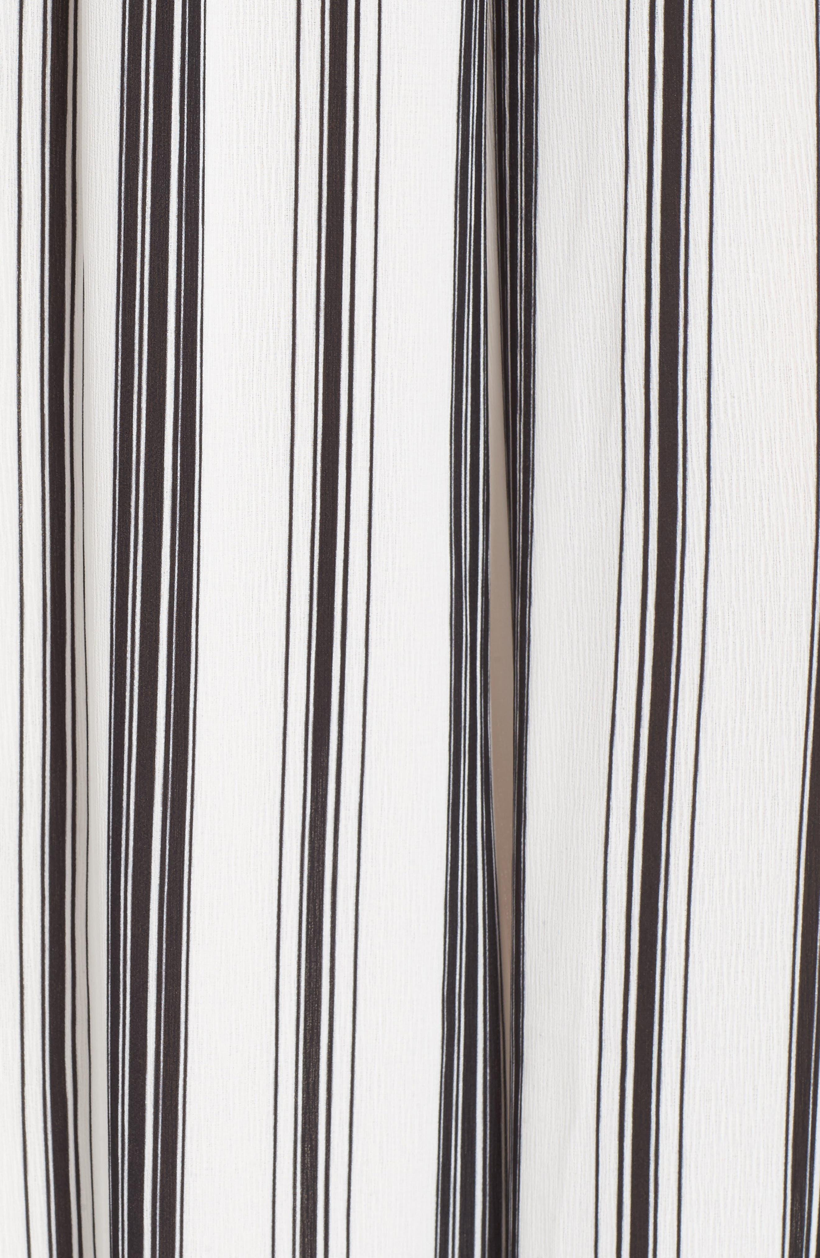Paperbag Waist Wide Leg Crop Pants,                             Alternate thumbnail 5, color,                             001