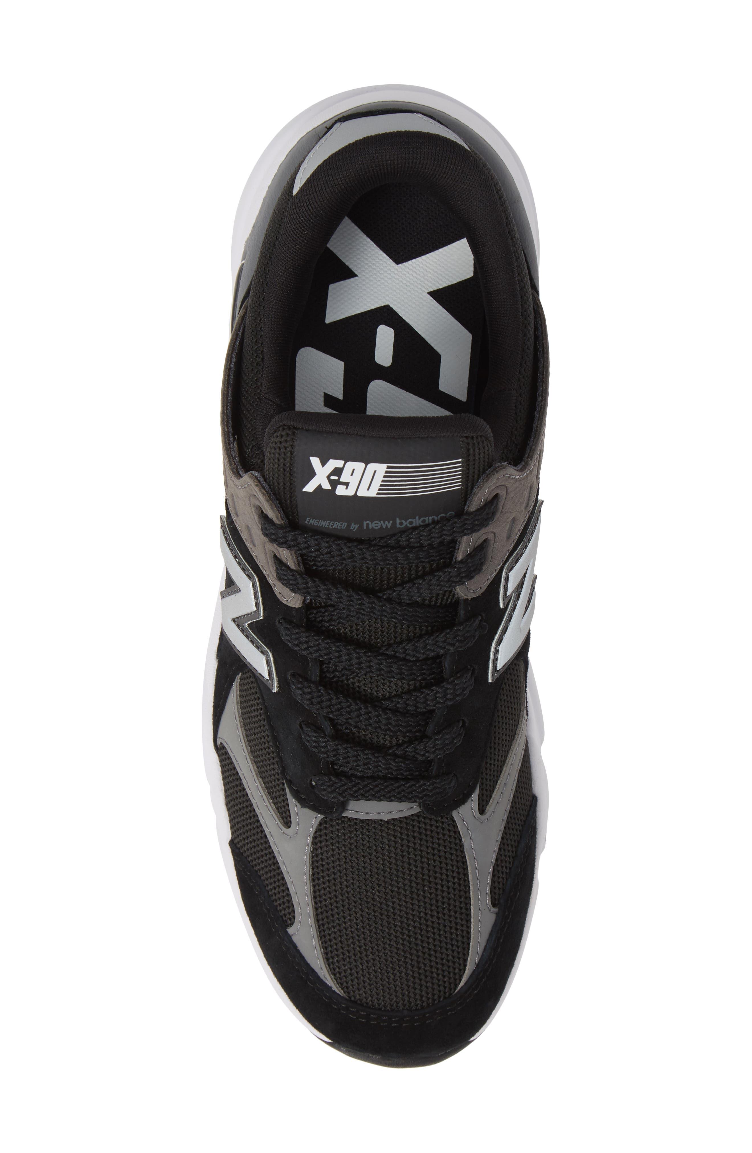 X-90 Sneaker,                             Alternate thumbnail 5, color,                             BLACK