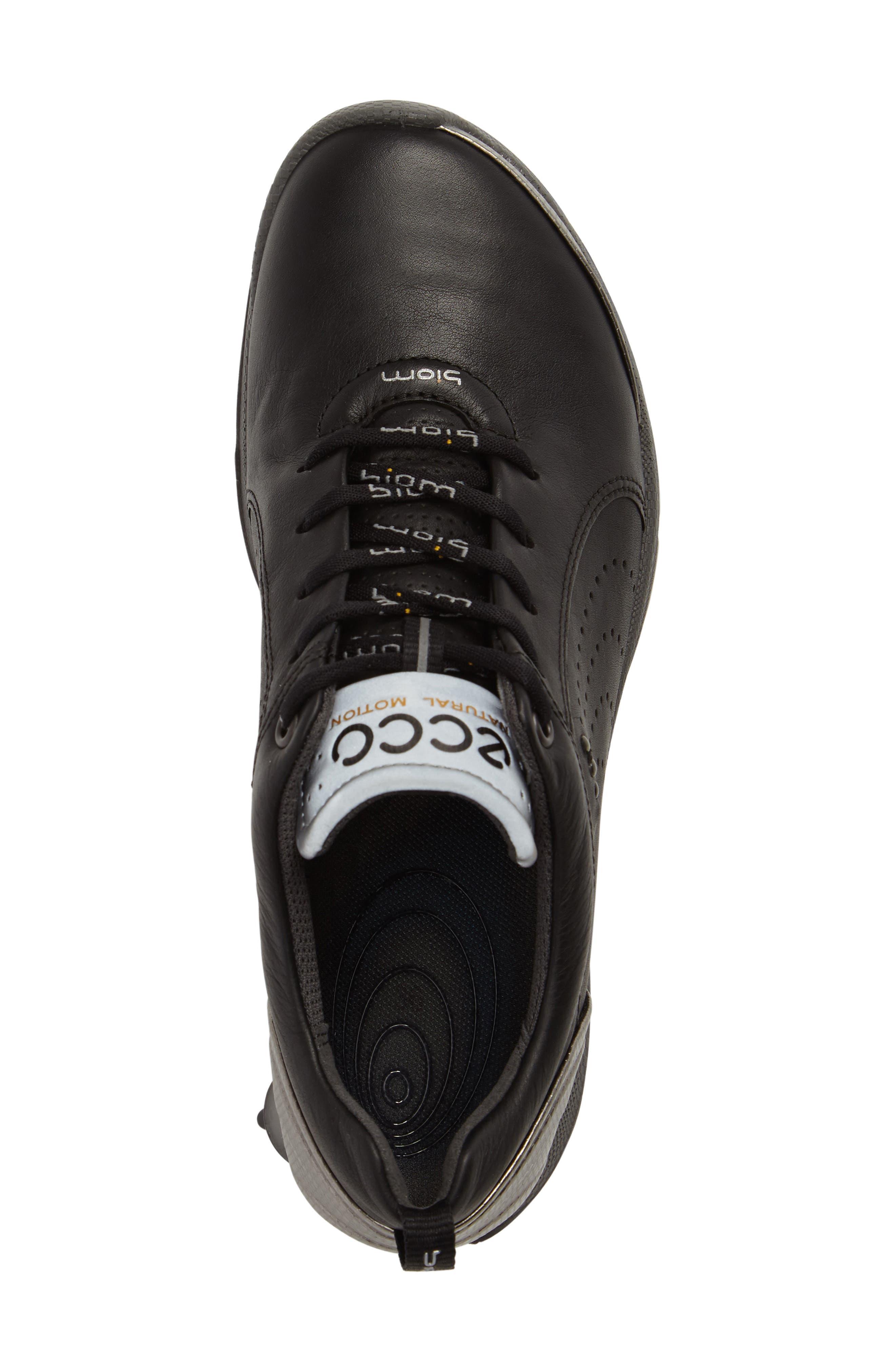 BIOM 2 Waterproof Golf Shoe,                             Alternate thumbnail 5, color,                             BLACK/ BUFFED SILVER LEATHER